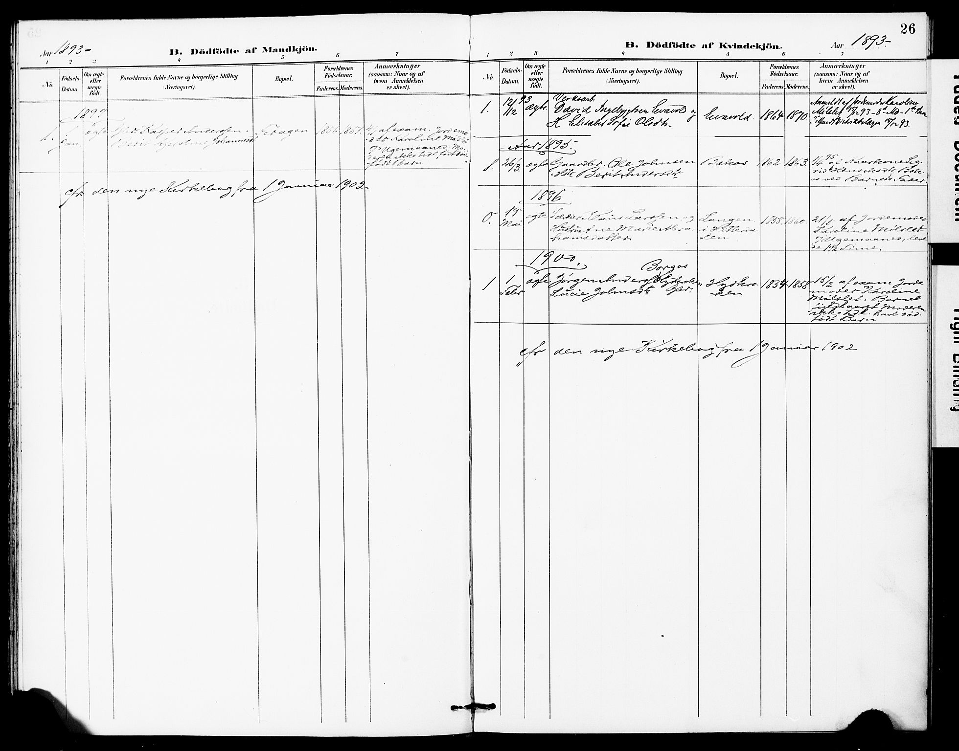 SAT, Ministerialprotokoller, klokkerbøker og fødselsregistre - Sør-Trøndelag, 683/L0948: Ministerialbok nr. 683A01, 1891-1902, s. 26