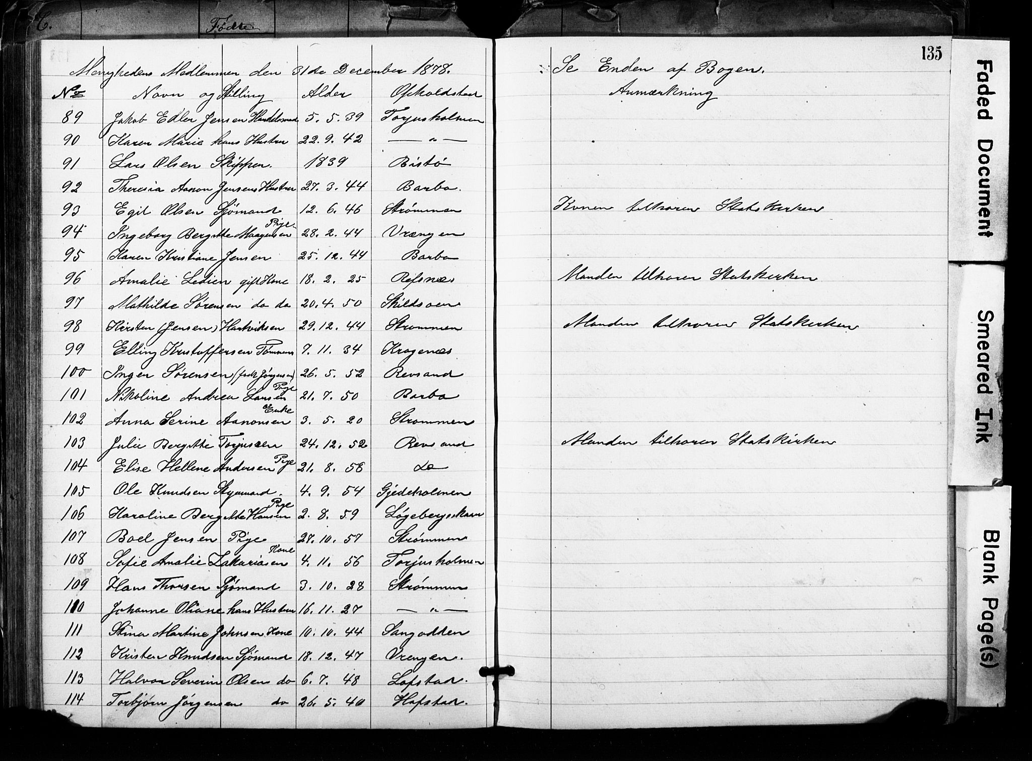 SAK, Metodistmenigheten, Arendal, F/Fa/L0001: Dissenterprotokoll nr. F-2, 1867-1879, s. 135