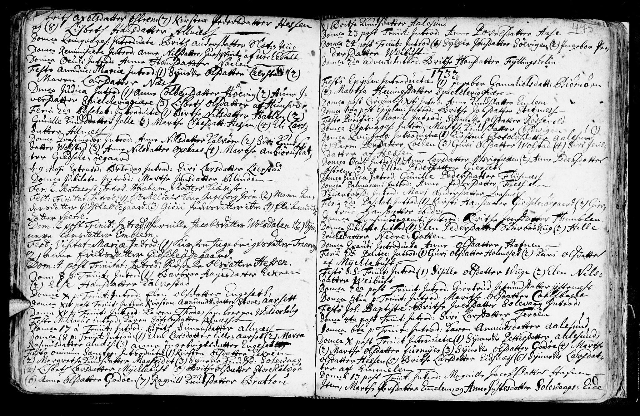 SAT, Ministerialprotokoller, klokkerbøker og fødselsregistre - Møre og Romsdal, 528/L0390: Ministerialbok nr. 528A01, 1698-1739, s. 474-475