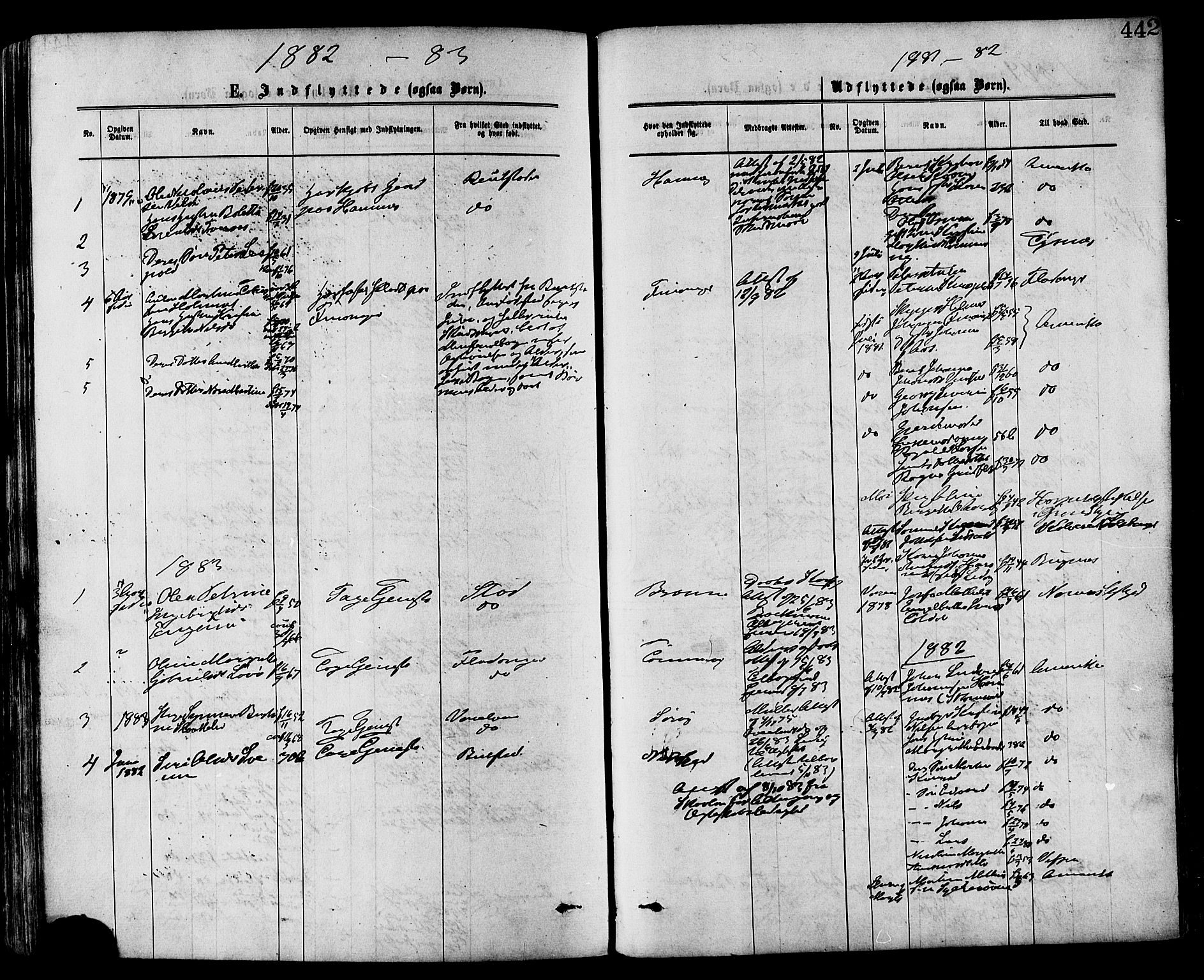 SAT, Ministerialprotokoller, klokkerbøker og fødselsregistre - Nord-Trøndelag, 773/L0616: Ministerialbok nr. 773A07, 1870-1887, s. 442