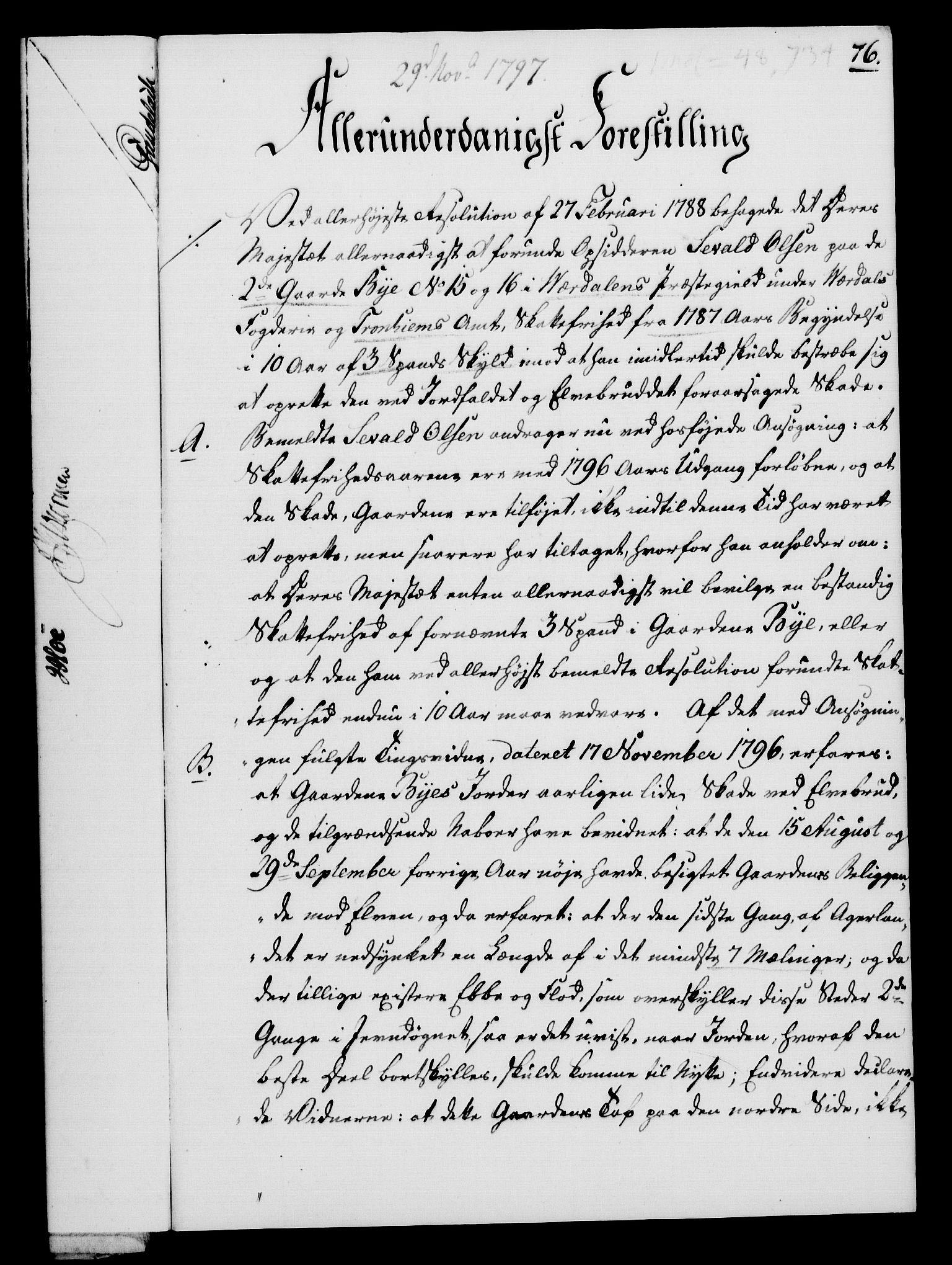 RA, Rentekammeret, Kammerkanselliet, G/Gf/Gfa/L0079: Norsk relasjons- og resolusjonsprotokoll (merket RK 52.79), 1797, s. 463