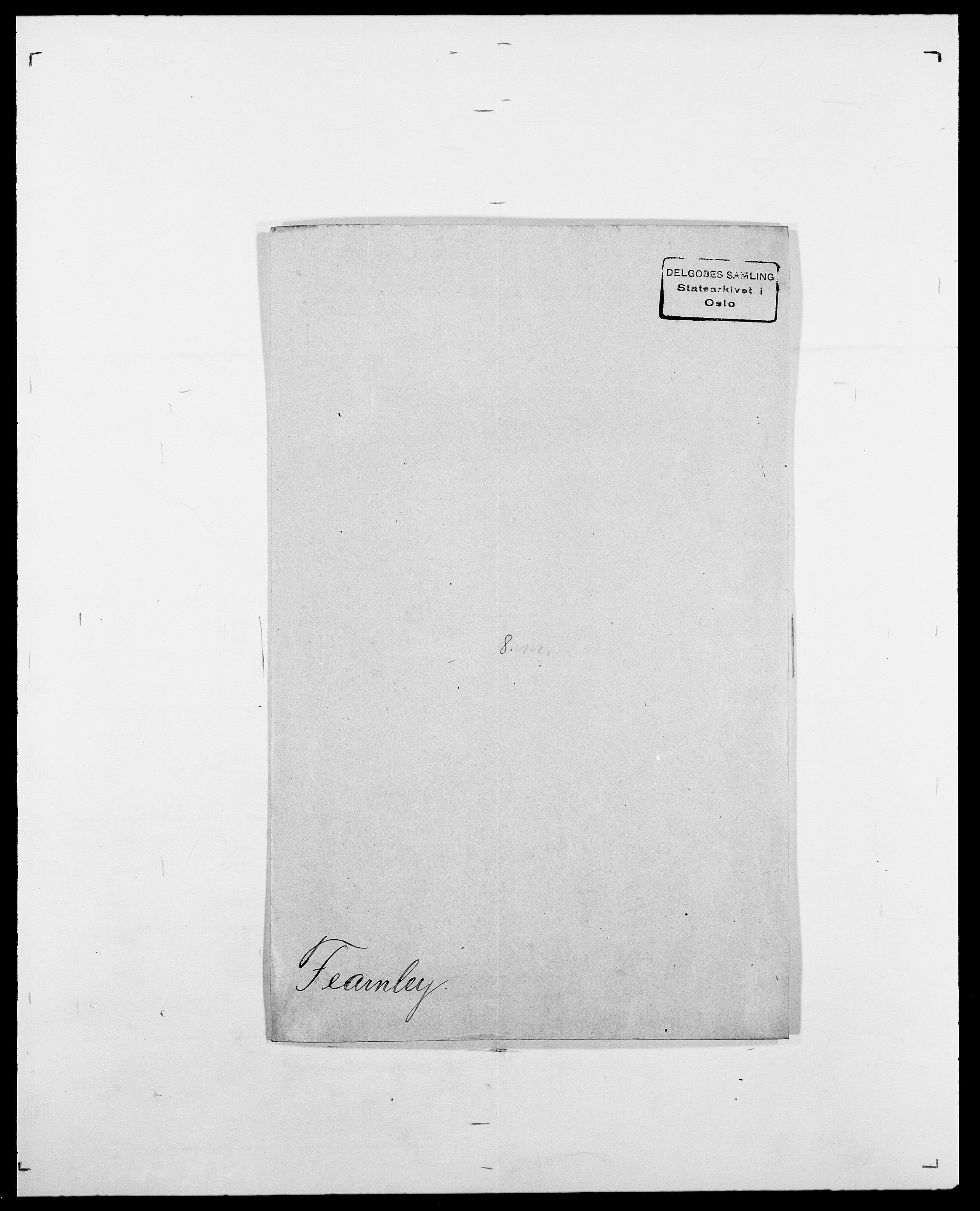 SAO, Delgobe, Charles Antoine - samling, D/Da/L0011: Fahlander - Flood, Flod, s. 282