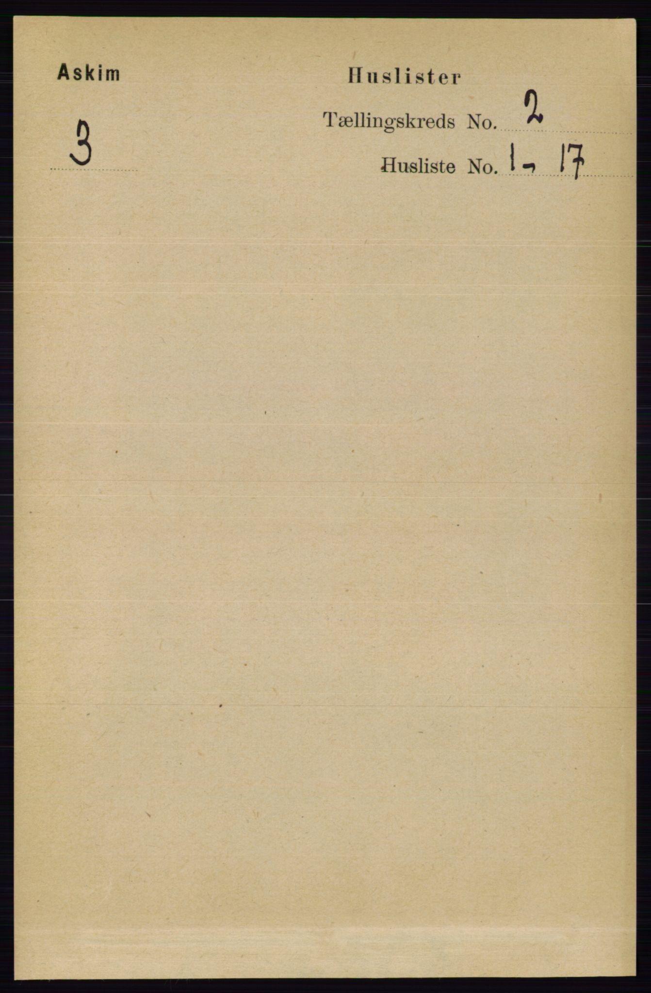 RA, Folketelling 1891 for 0124 Askim herred, 1891, s. 231