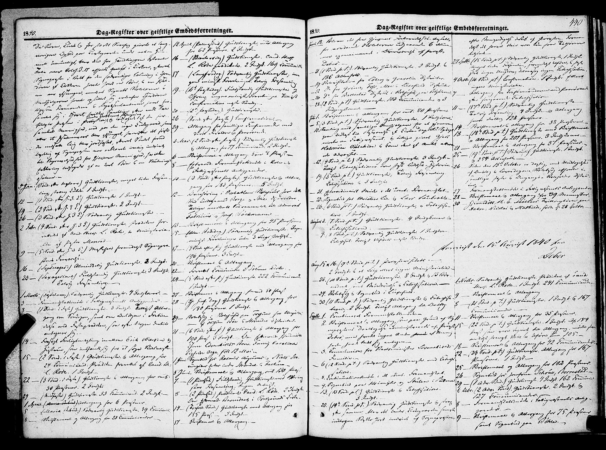 SAKO, Gjerpen kirkebøker, F/Fa/L0007b: Ministerialbok nr. 7B, 1834-1857, s. 440