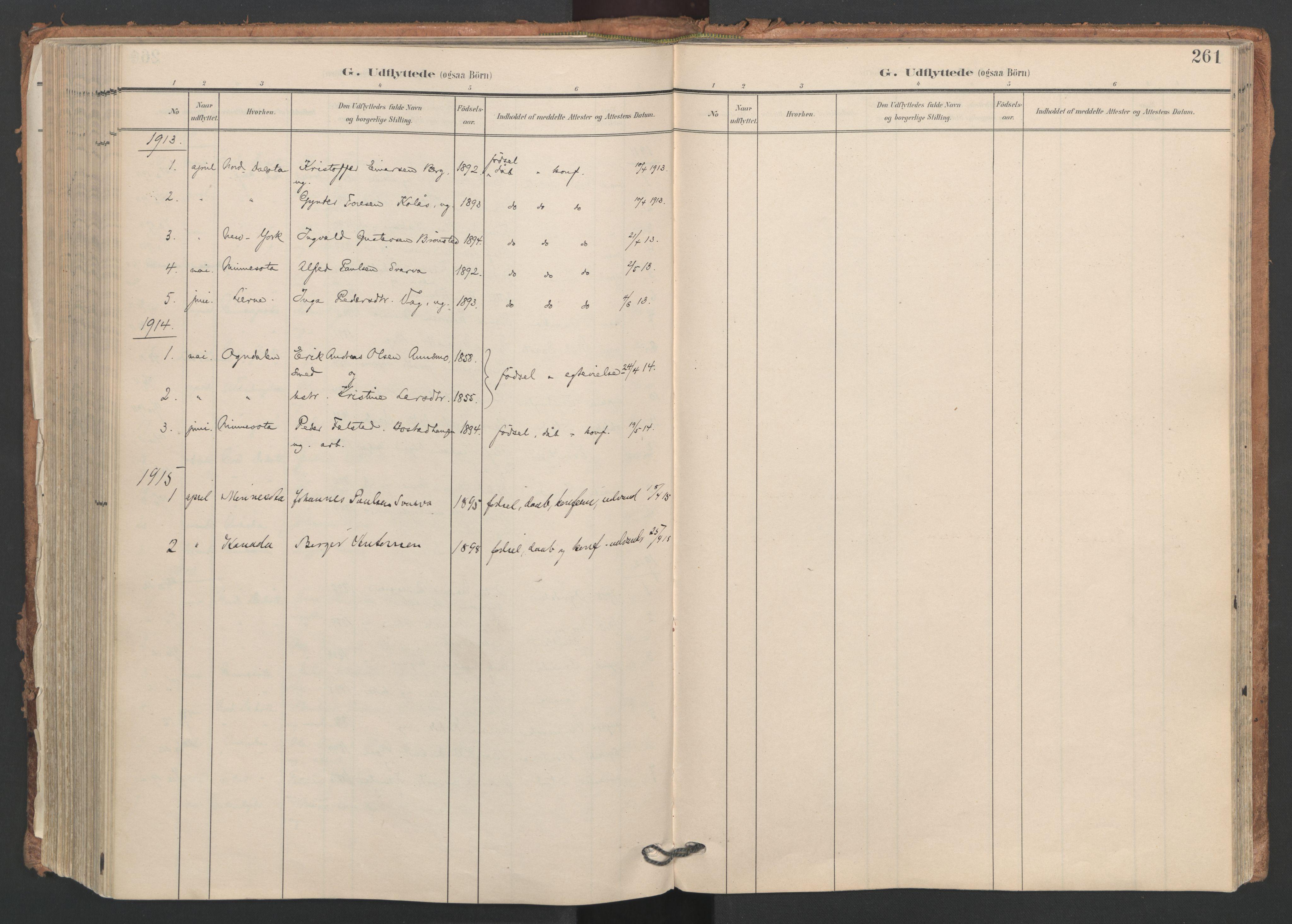 SAT, Ministerialprotokoller, klokkerbøker og fødselsregistre - Nord-Trøndelag, 749/L0477: Ministerialbok nr. 749A11, 1902-1927, s. 261