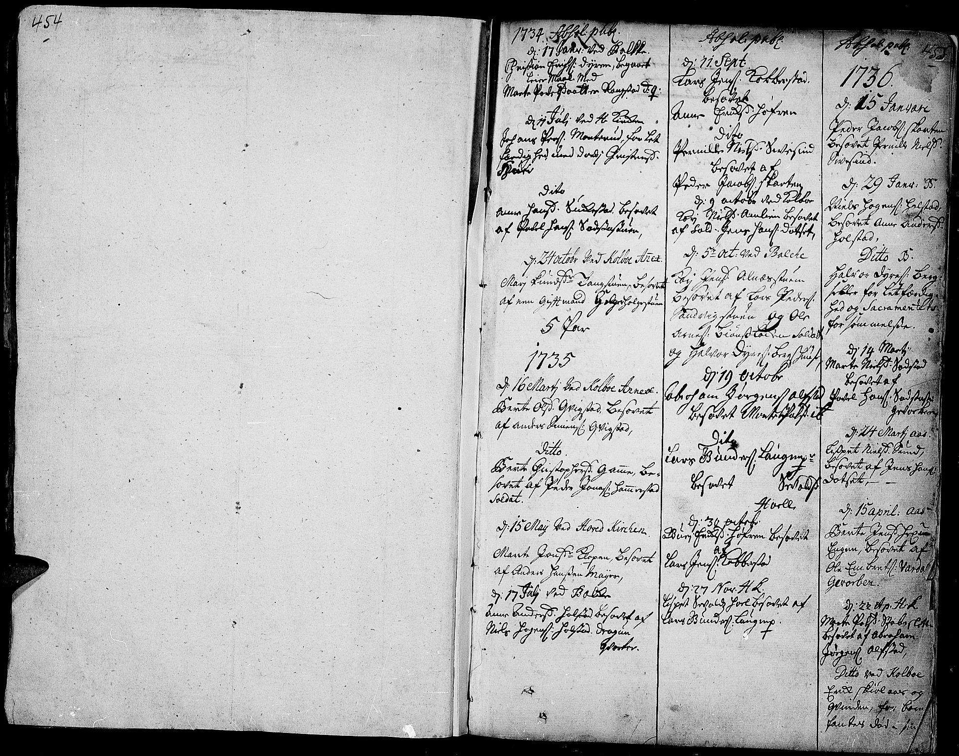 SAH, Toten prestekontor, Ministerialbok nr. 3, 1734-1751, s. 454-455