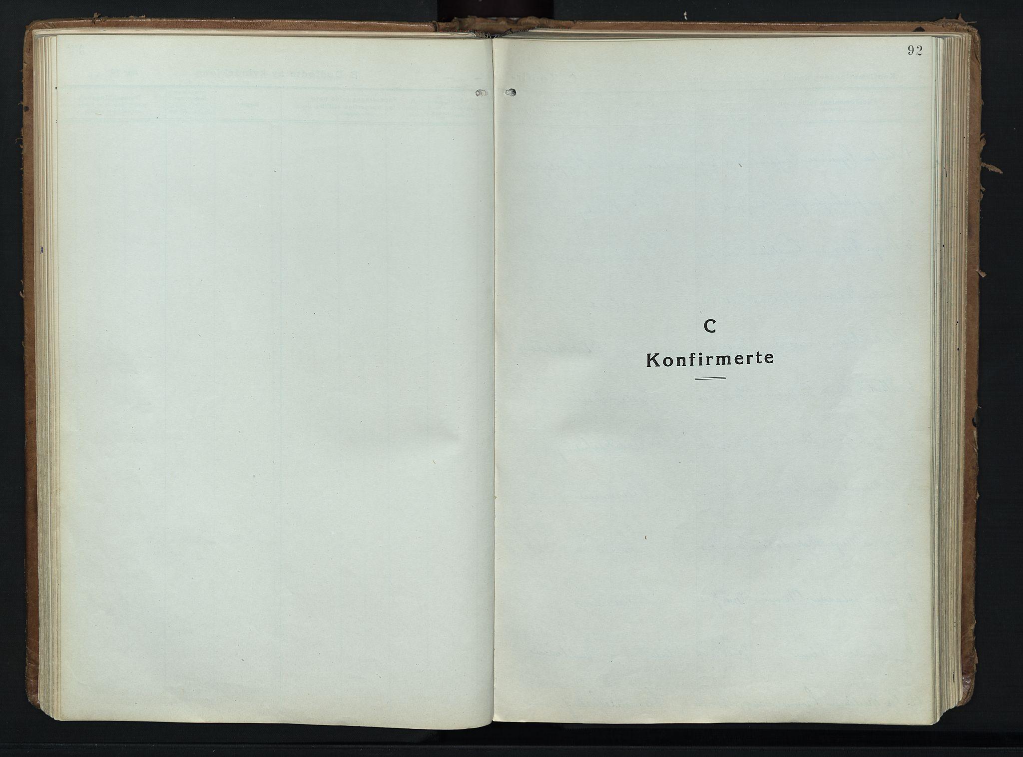 SAH, Alvdal prestekontor, Ministerialbok nr. 6, 1920-1937, s. 92