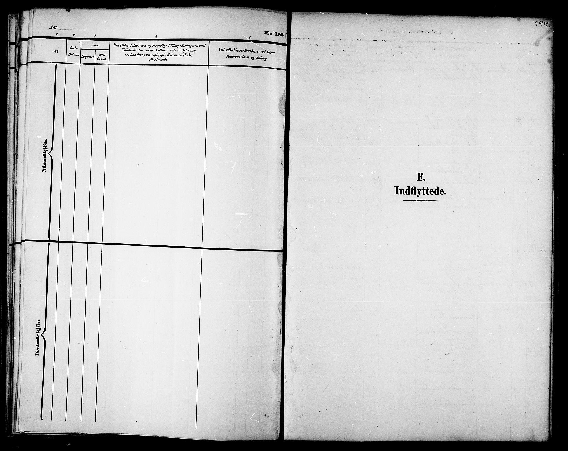 SAT, Ministerialprotokoller, klokkerbøker og fødselsregistre - Nord-Trøndelag, 733/L0327: Klokkerbok nr. 733C02, 1888-1918, s. 194