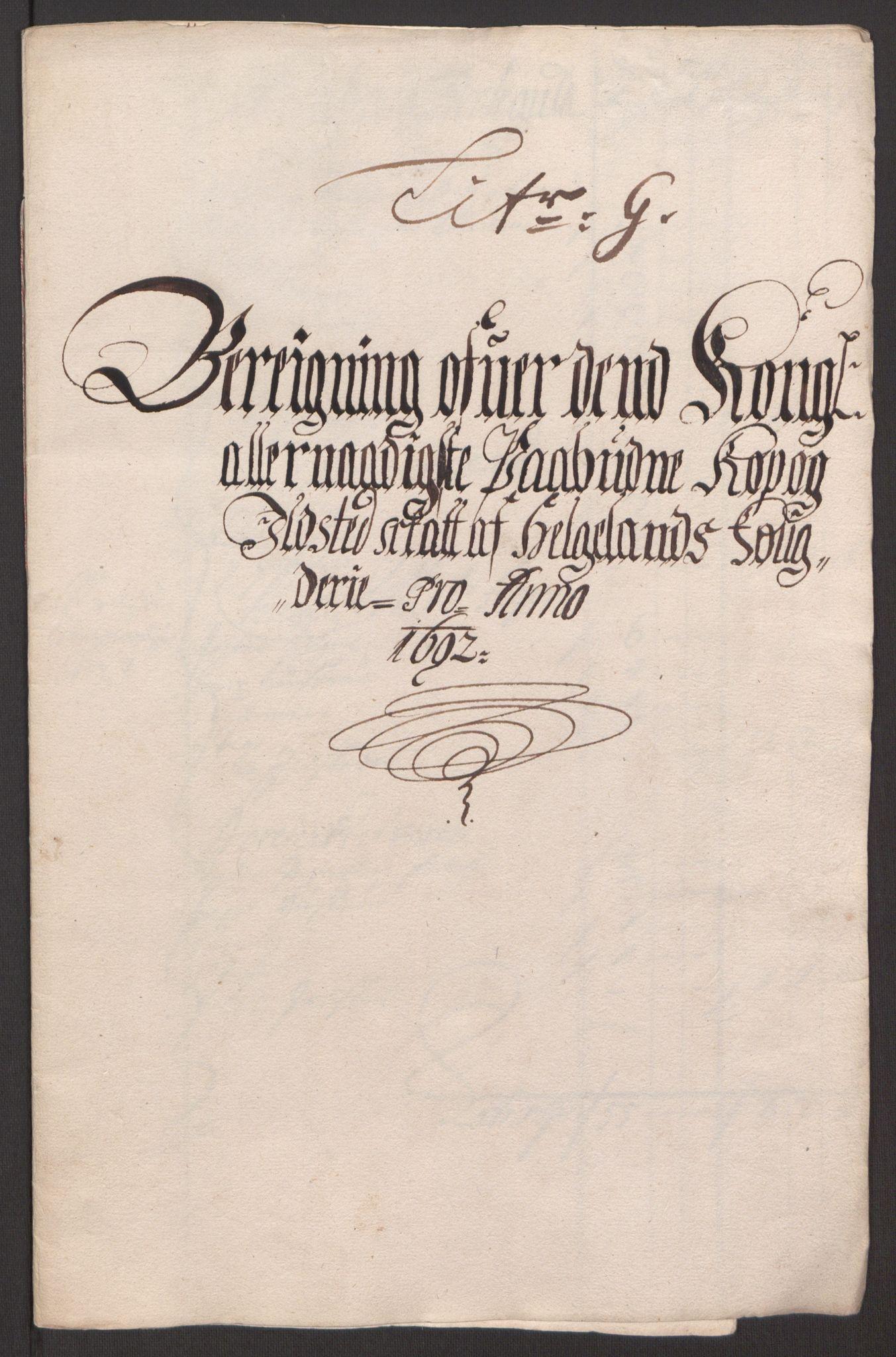 RA, Rentekammeret inntil 1814, Reviderte regnskaper, Fogderegnskap, R65/L4504: Fogderegnskap Helgeland, 1691-1692, s. 294