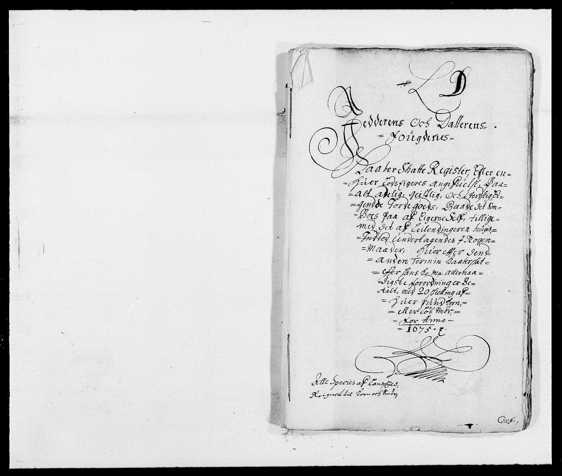 RA, Rentekammeret inntil 1814, Reviderte regnskaper, Fogderegnskap, R46/L2715: Fogderegnskap Jæren og Dalane, 1675, s. 136