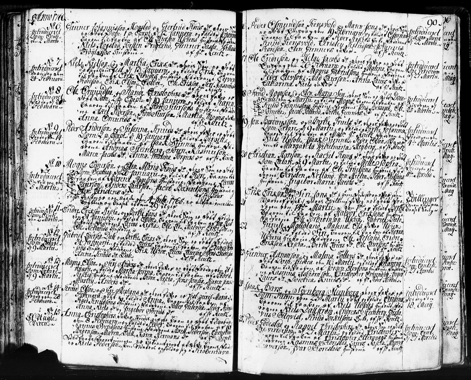SAST, Domkirken sokneprestkontor, 30/30BB/L0004: Klokkerbok nr. B 4, 1752-1790, s. 90