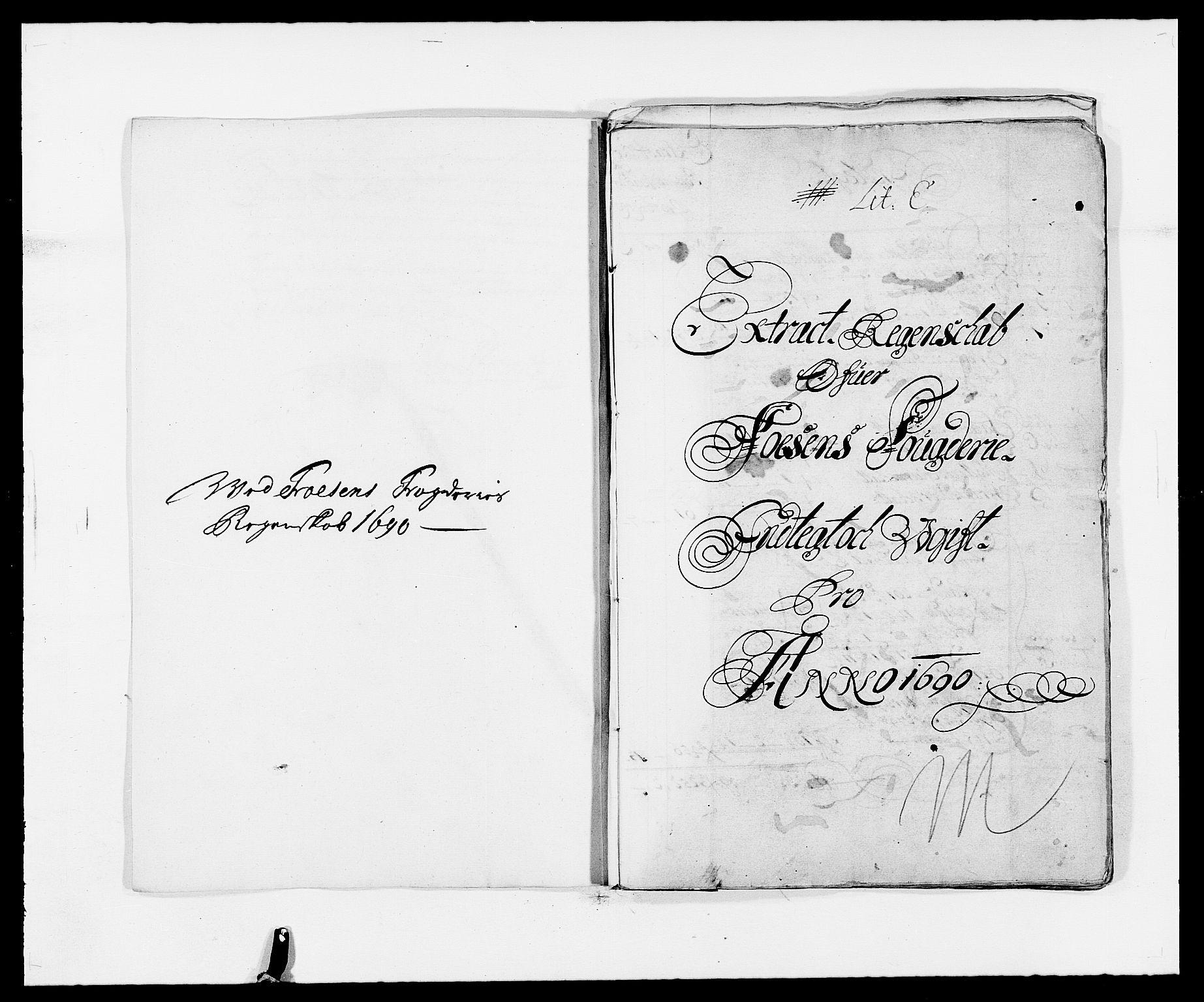 RA, Rentekammeret inntil 1814, Reviderte regnskaper, Fogderegnskap, R57/L3848: Fogderegnskap Fosen, 1690-1691, s. 2