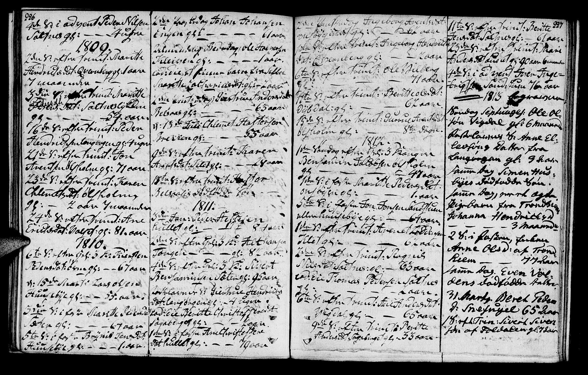 SAT, Ministerialprotokoller, klokkerbøker og fødselsregistre - Sør-Trøndelag, 666/L0785: Ministerialbok nr. 666A03, 1803-1816, s. 226-227