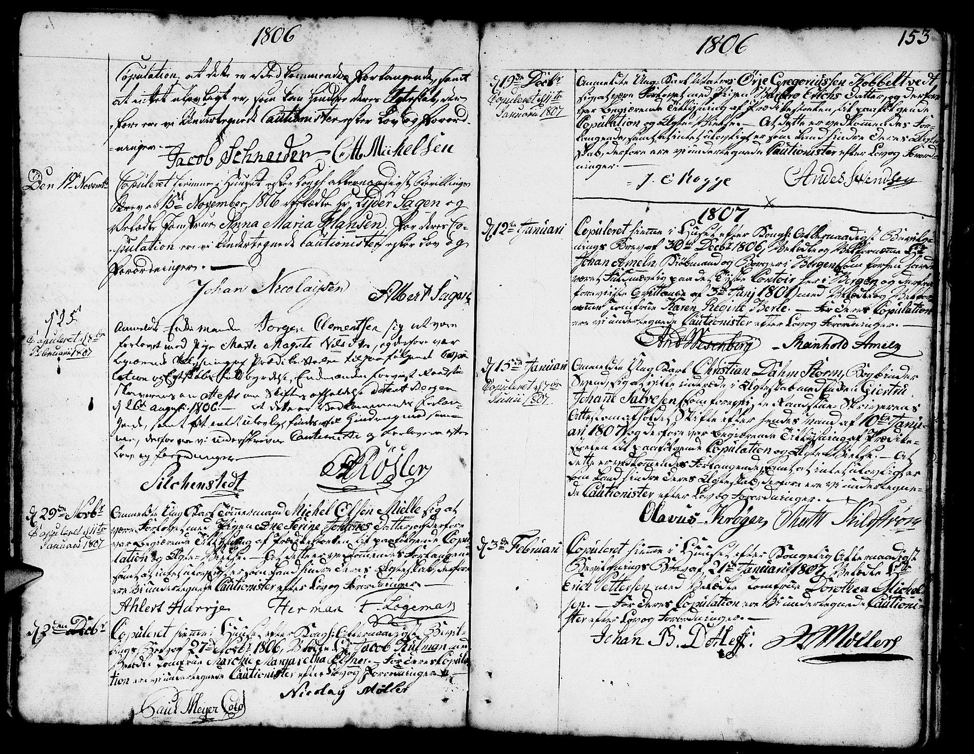 SAB, Nykirken Sokneprestembete, H/Haa: Ministerialbok nr. A 8, 1776-1814, s. 153