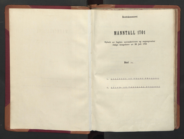 RA, Manntallet 1701, nr. 14: Strinda og Selbu fogderi, 1701