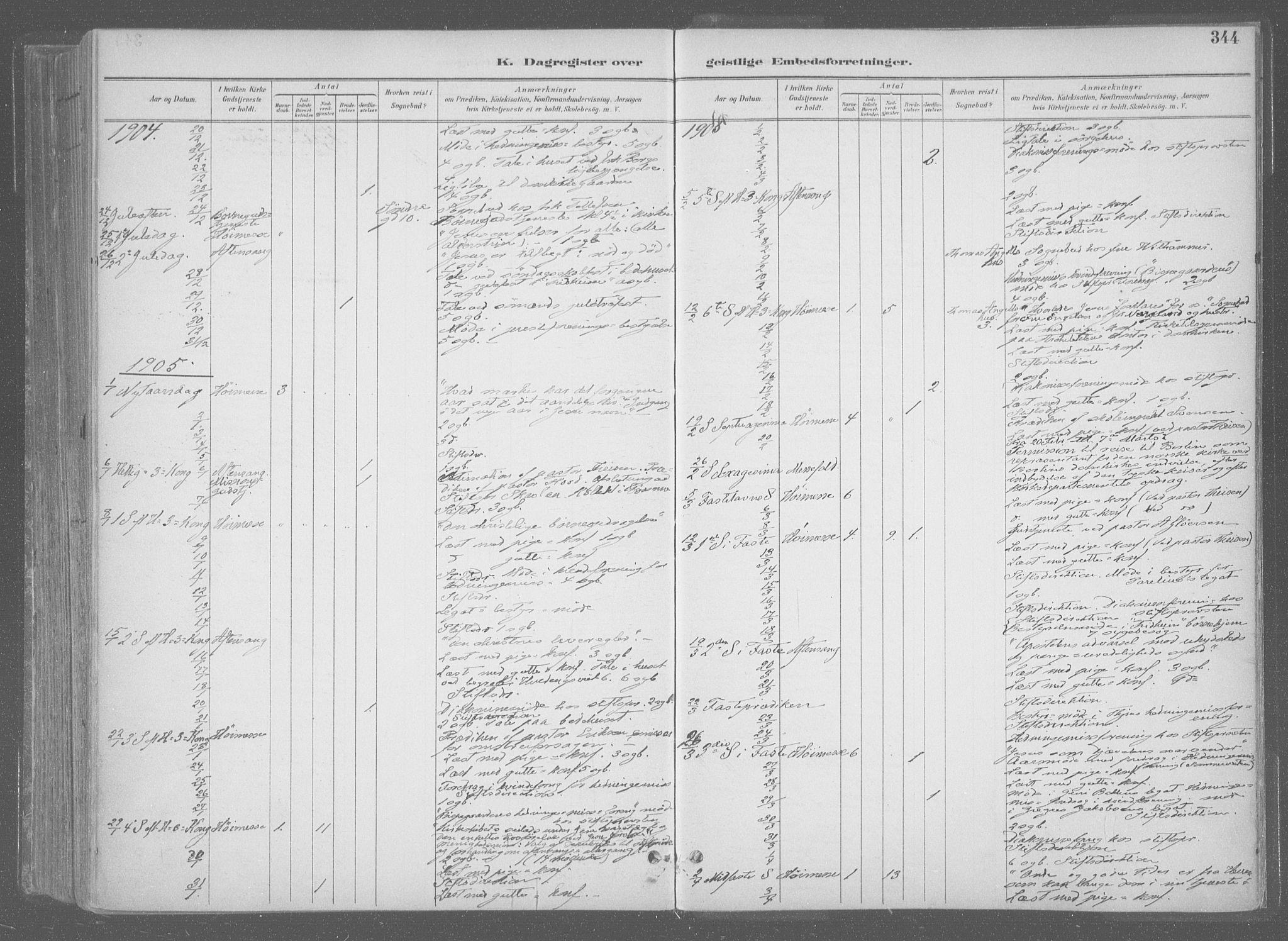 SAT, Ministerialprotokoller, klokkerbøker og fødselsregistre - Sør-Trøndelag, 601/L0064: Ministerialbok nr. 601A31, 1891-1911, s. 344