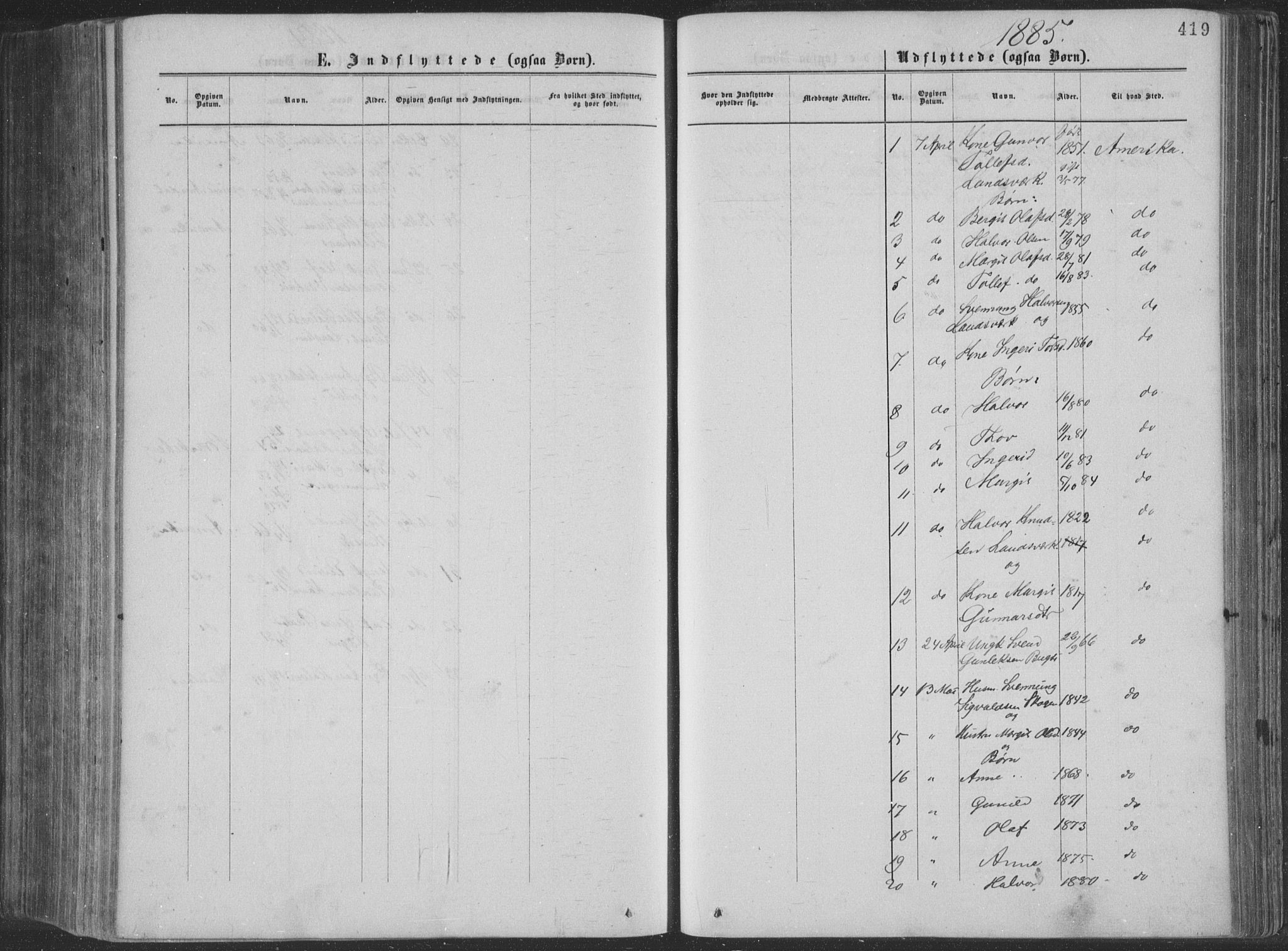 SAKO, Seljord kirkebøker, F/Fa/L0014: Ministerialbok nr. I 14, 1877-1886, s. 419