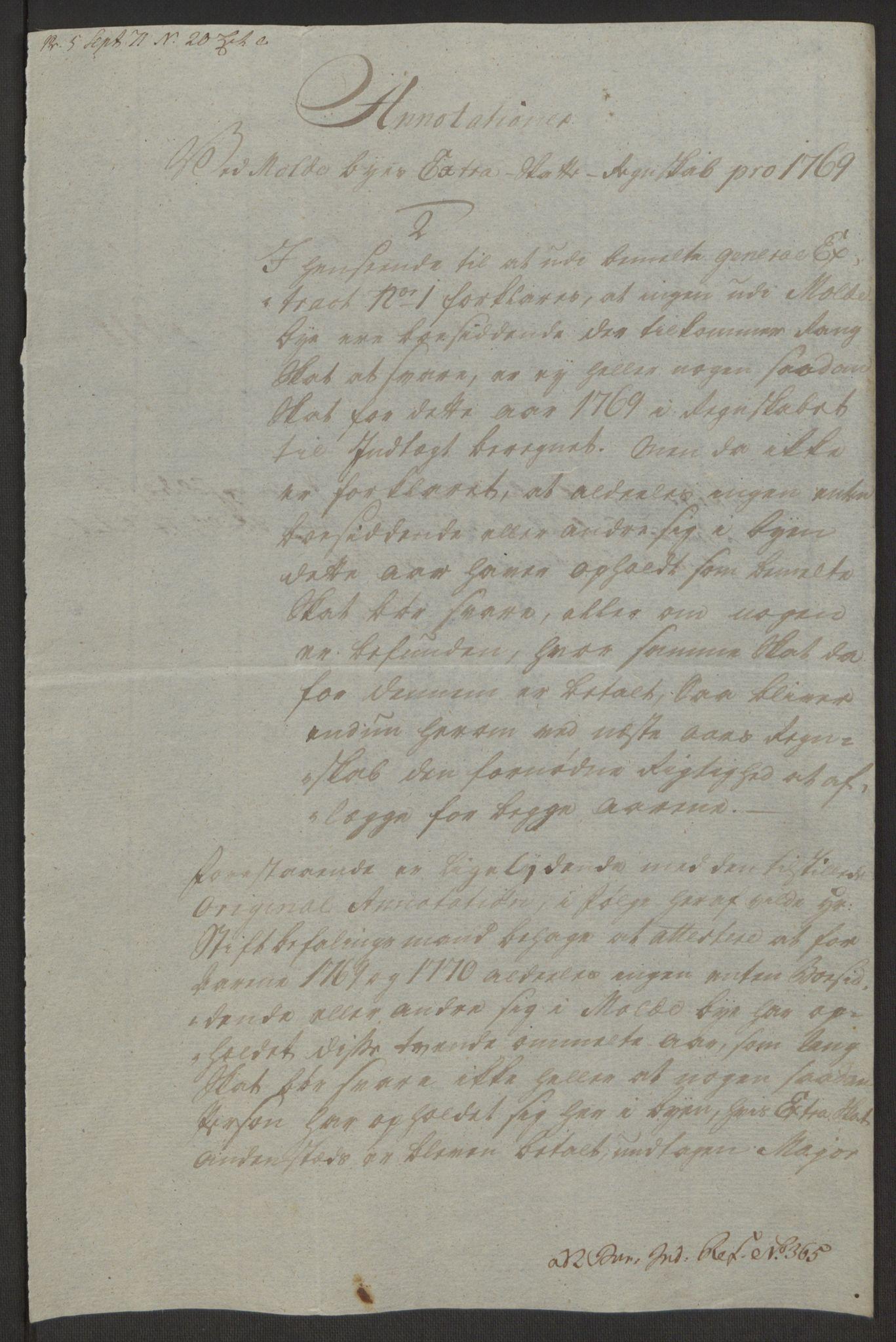 RA, Rentekammeret inntil 1814, Reviderte regnskaper, Byregnskaper, R/Rq/L0487: [Q1] Kontribusjonsregnskap, 1762-1772, s. 193