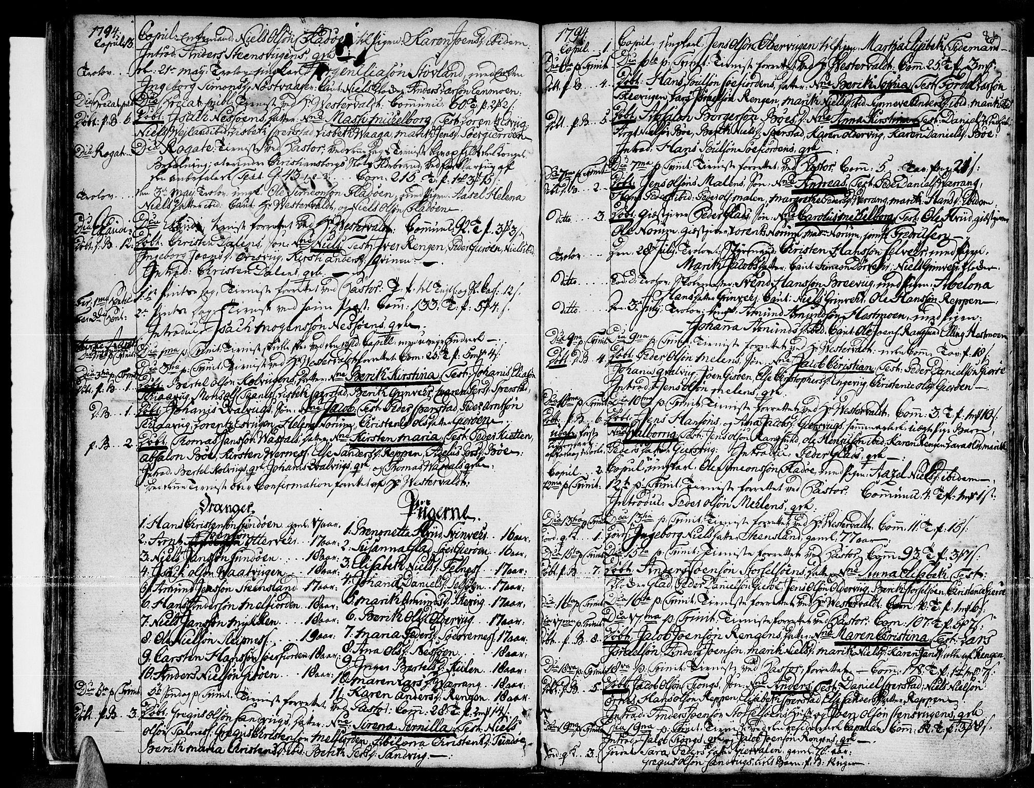 SAT, Ministerialprotokoller, klokkerbøker og fødselsregistre - Nordland, 841/L0591: Ministerialbok nr. 841A03 /1, 1777-1819, s. 85-86