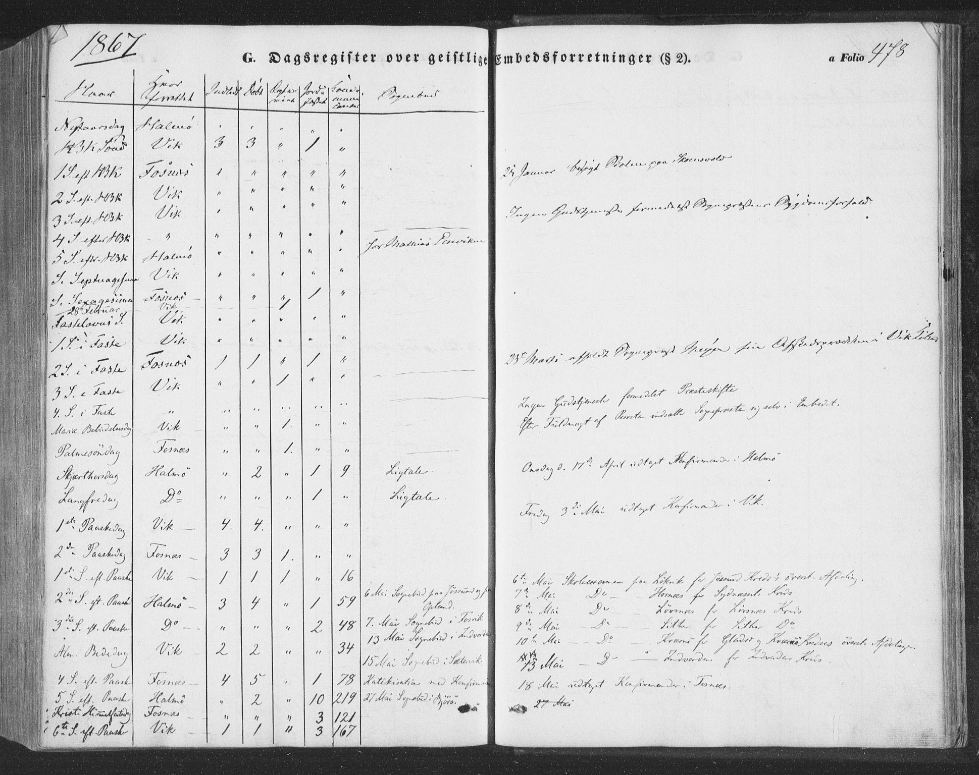 SAT, Ministerialprotokoller, klokkerbøker og fødselsregistre - Nord-Trøndelag, 773/L0615: Ministerialbok nr. 773A06, 1857-1870, s. 478