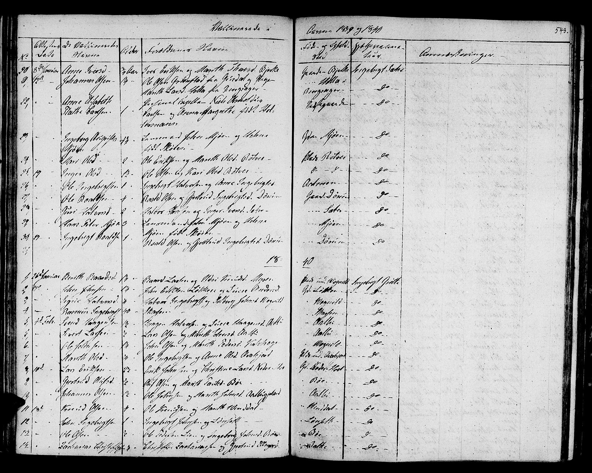 SAT, Ministerialprotokoller, klokkerbøker og fødselsregistre - Sør-Trøndelag, 678/L0897: Ministerialbok nr. 678A06-07, 1821-1847, s. 543