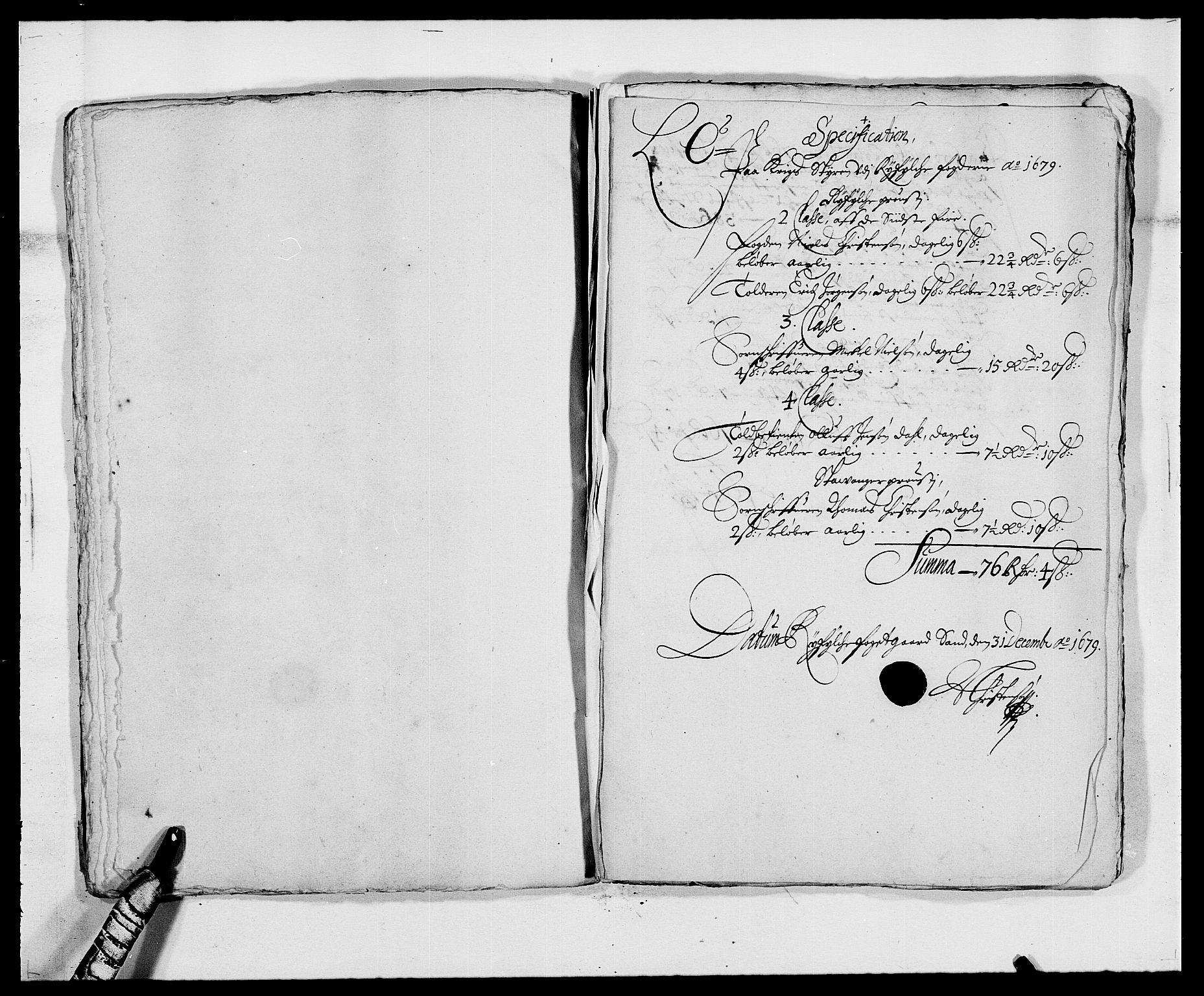 RA, Rentekammeret inntil 1814, Reviderte regnskaper, Fogderegnskap, R47/L2849: Fogderegnskap Ryfylke, 1679, s. 85