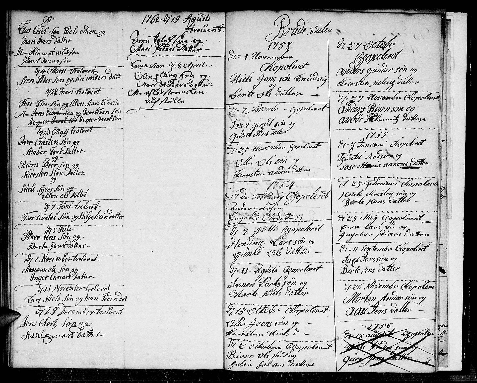 SAK, Dypvåg sokneprestkontor, F/Fb/Fba/L0006: Klokkerbok nr. B 6, 1746-1762, s. 73