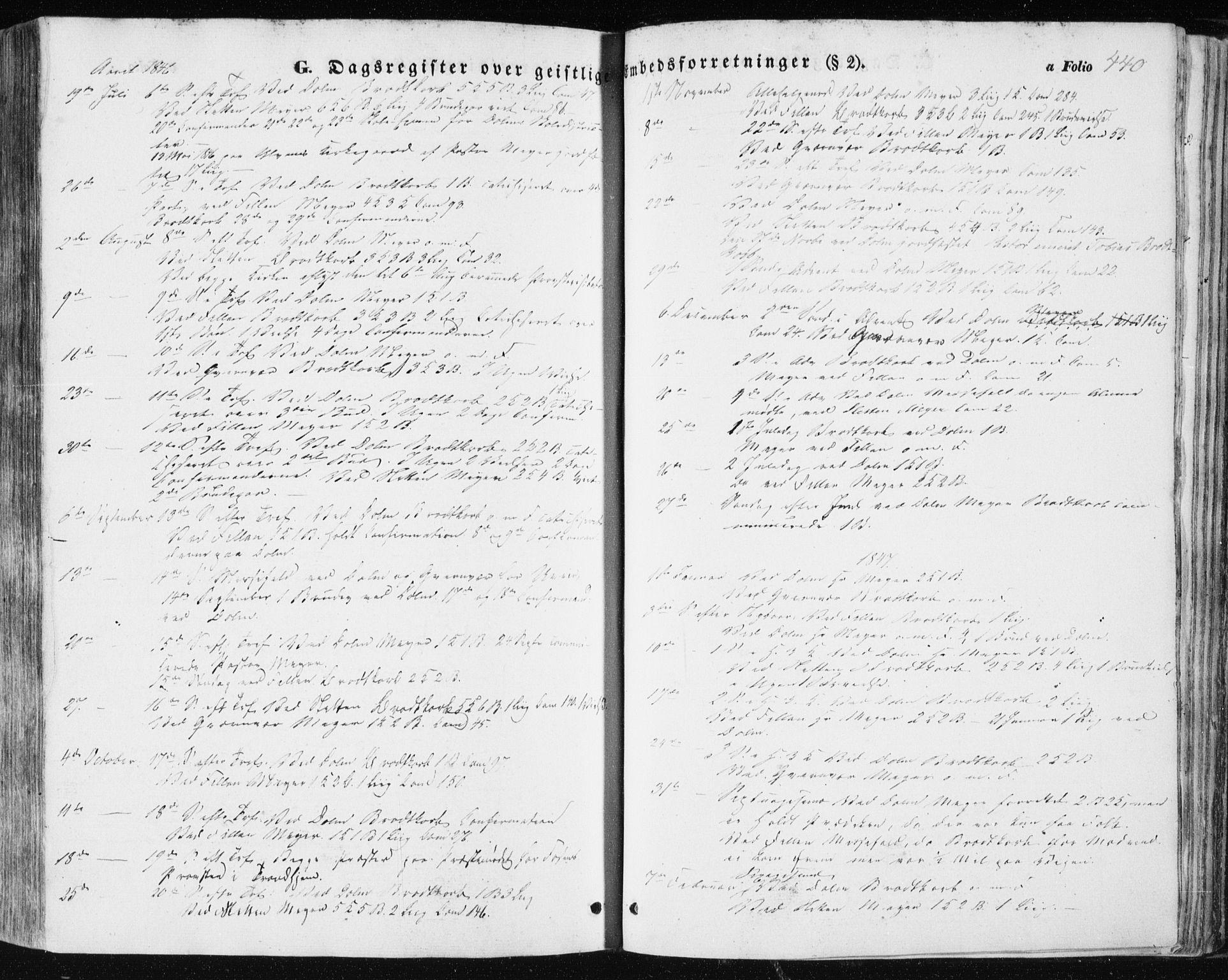 SAT, Ministerialprotokoller, klokkerbøker og fødselsregistre - Sør-Trøndelag, 634/L0529: Ministerialbok nr. 634A05, 1843-1851, s. 440