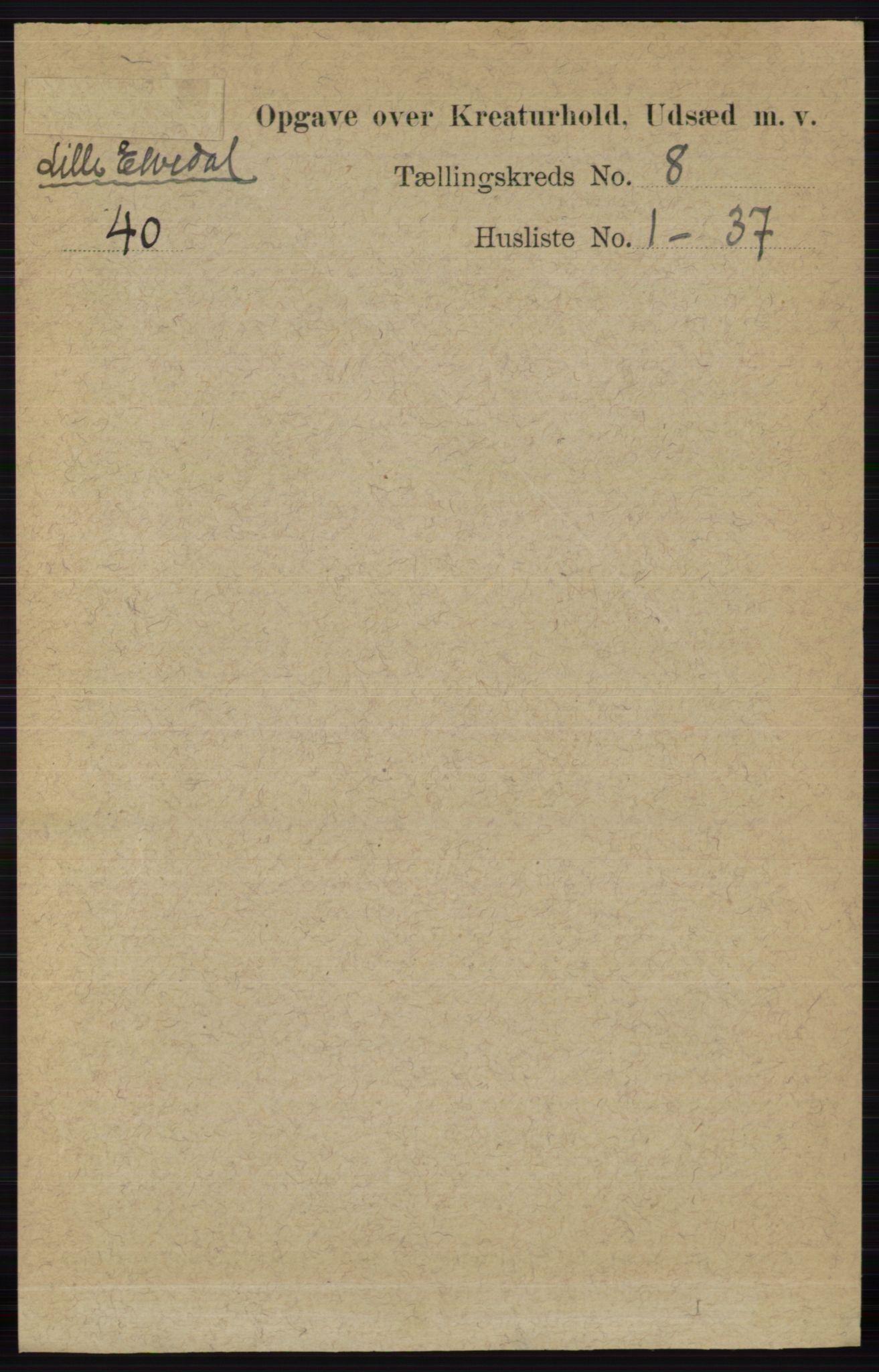 RA, Folketelling 1891 for 0438 Lille Elvedalen herred, 1891, s. 4570