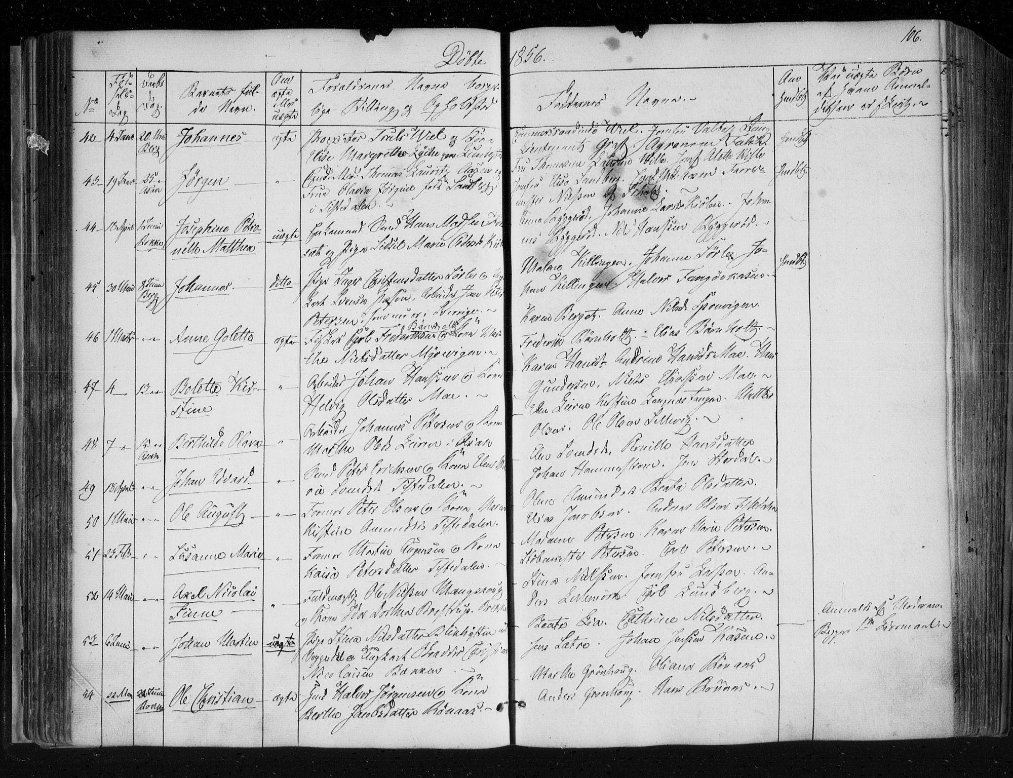 SAO, Berg prestekontor Kirkebøker, F/Fa/L0004: Ministerialbok nr. I 4, 1843-1860, s. 106