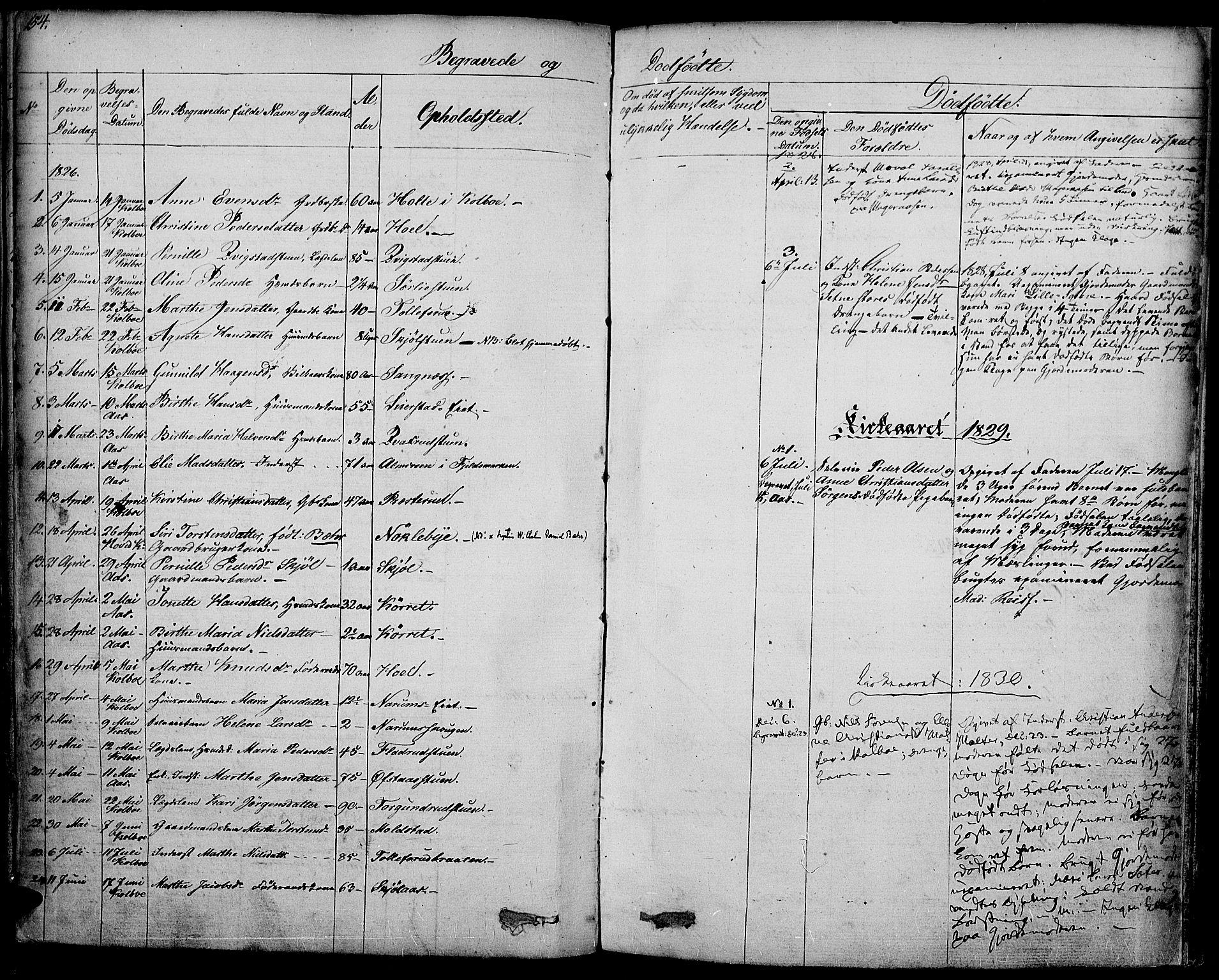 SAH, Vestre Toten prestekontor, Ministerialbok nr. 2, 1825-1837, s. 154