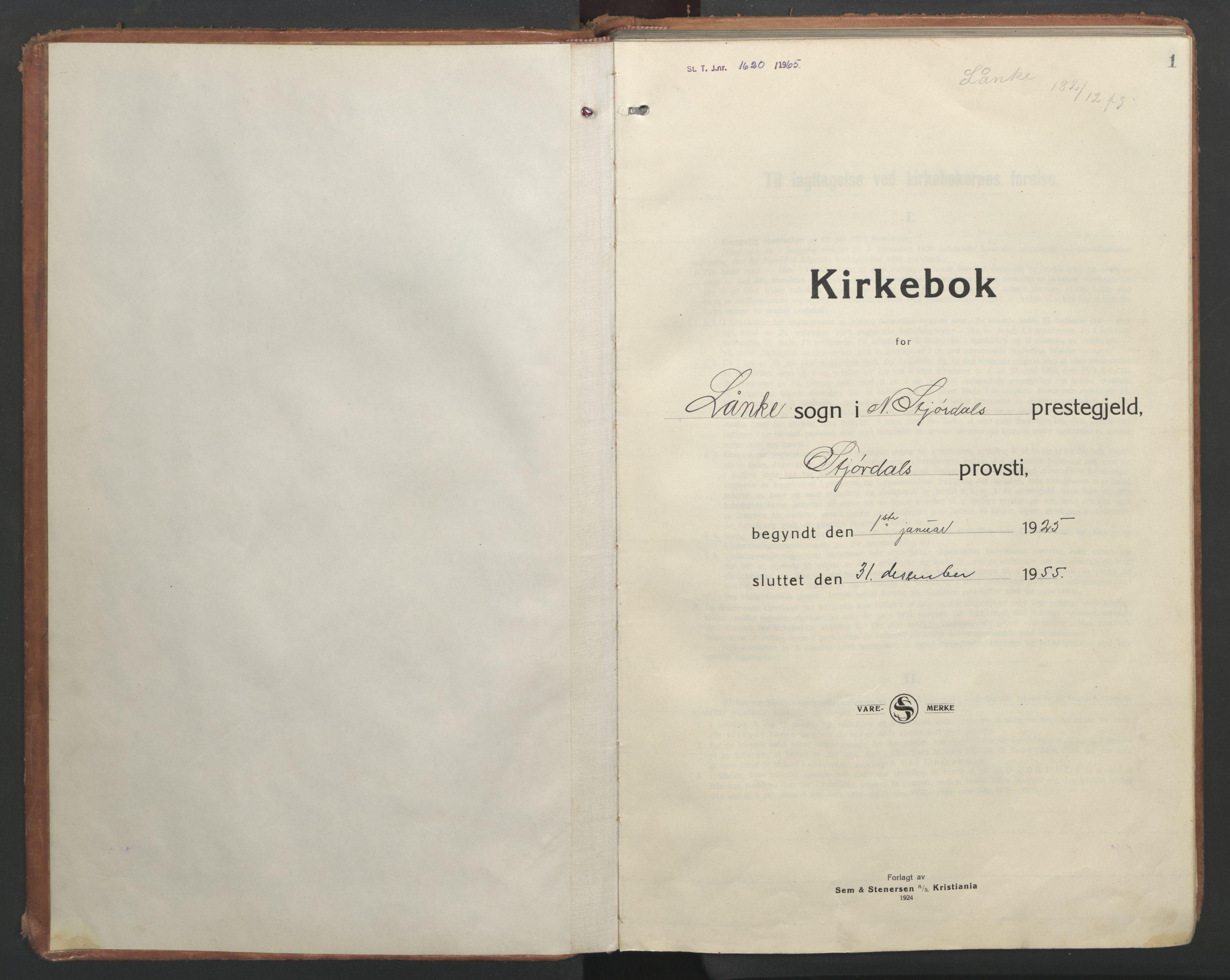 SAT, Ministerialprotokoller, klokkerbøker og fødselsregistre - Nord-Trøndelag, 710/L0097: Klokkerbok nr. 710C02, 1925-1955, s. 1