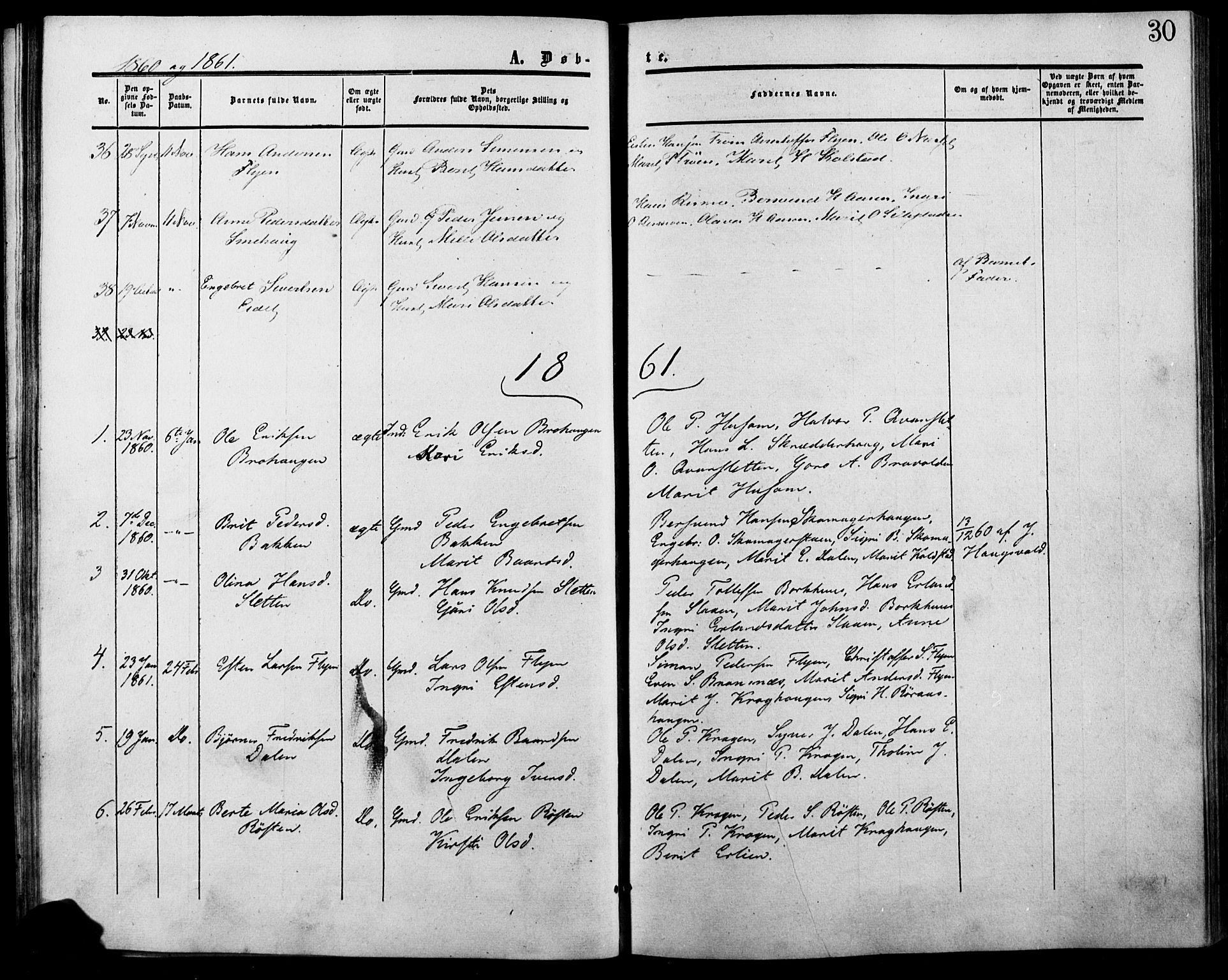 SAH, Lesja prestekontor, Ministerialbok nr. 7, 1854-1862, s. 30