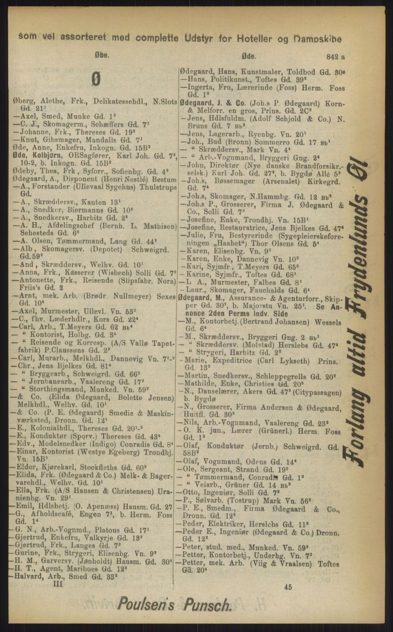 RA, Kristiania adressebok (publikasjon)*, 1903, s. 842