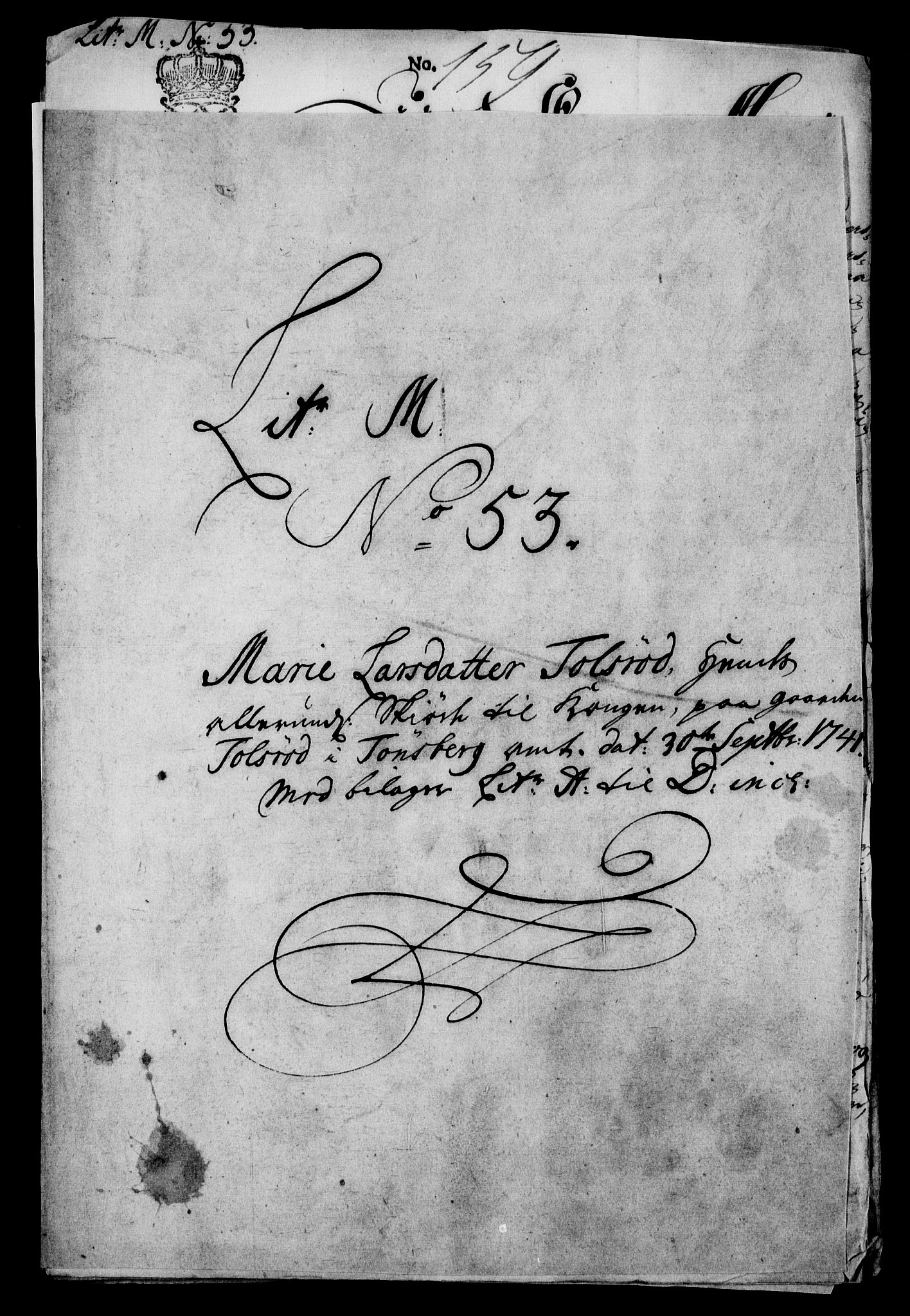 RA, Rentekammeret inntil 1814, Realistisk ordnet avdeling, On/L0009: [Jj 9]: Forskjellige skjøter og makeskifter med kirker og prestebord. Ervervelsen av Vallø saltverks eiendommer, s. 49