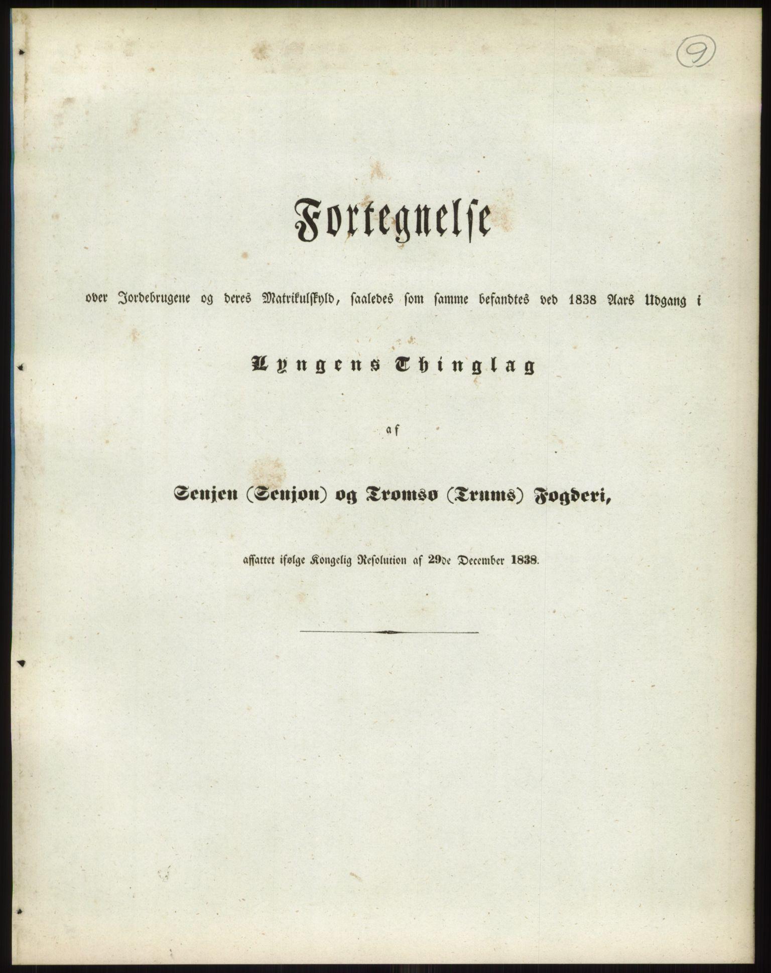 RA, 1838-matrikkelen (publikasjon)*, 1838, s. 9a