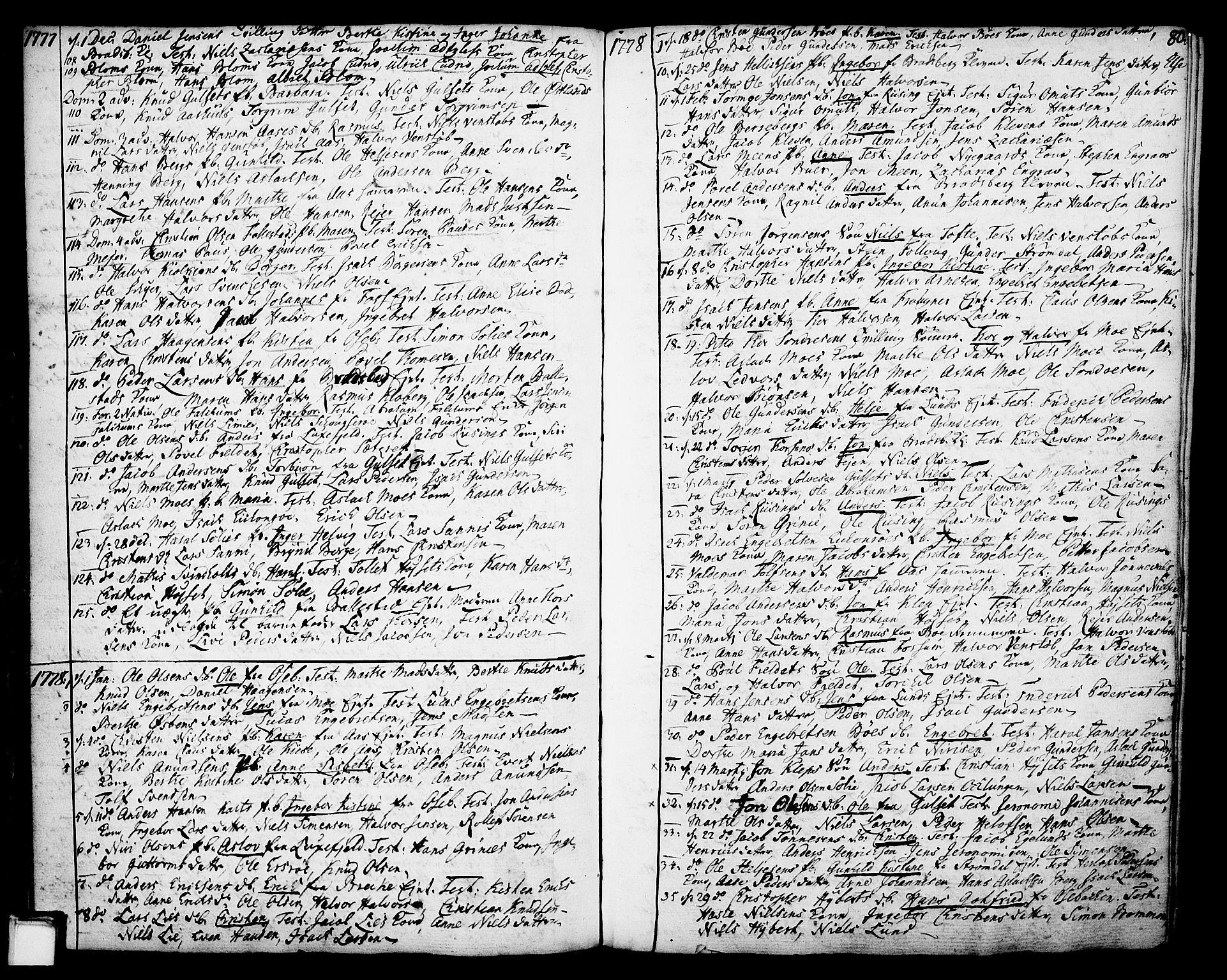 SAKO, Gjerpen kirkebøker, F/Fa/L0002: Ministerialbok nr. 2, 1747-1795, s. 80