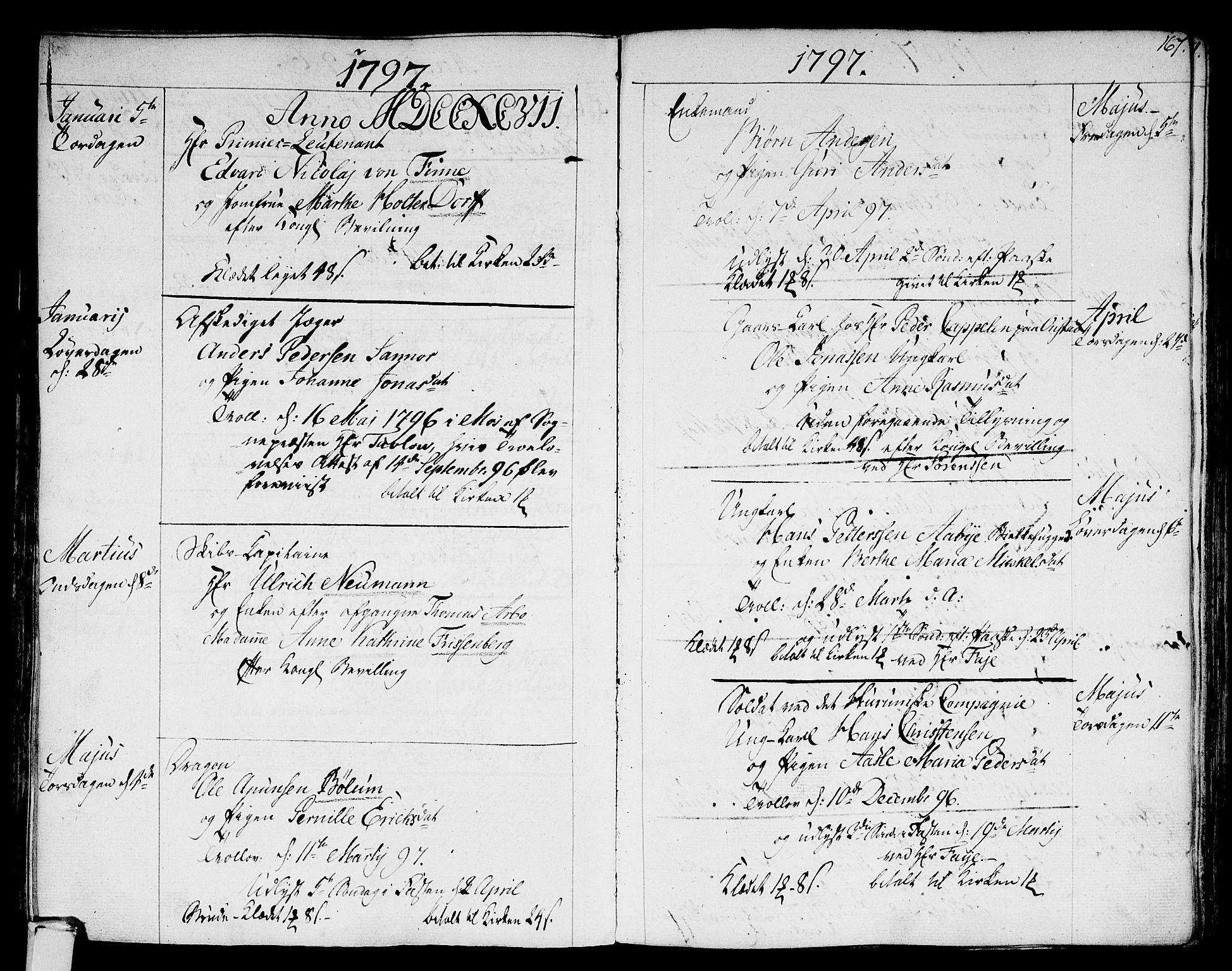 SAKO, Strømsø kirkebøker, F/Fa/L0010: Ministerialbok nr. I 10, 1792-1822, s. 167