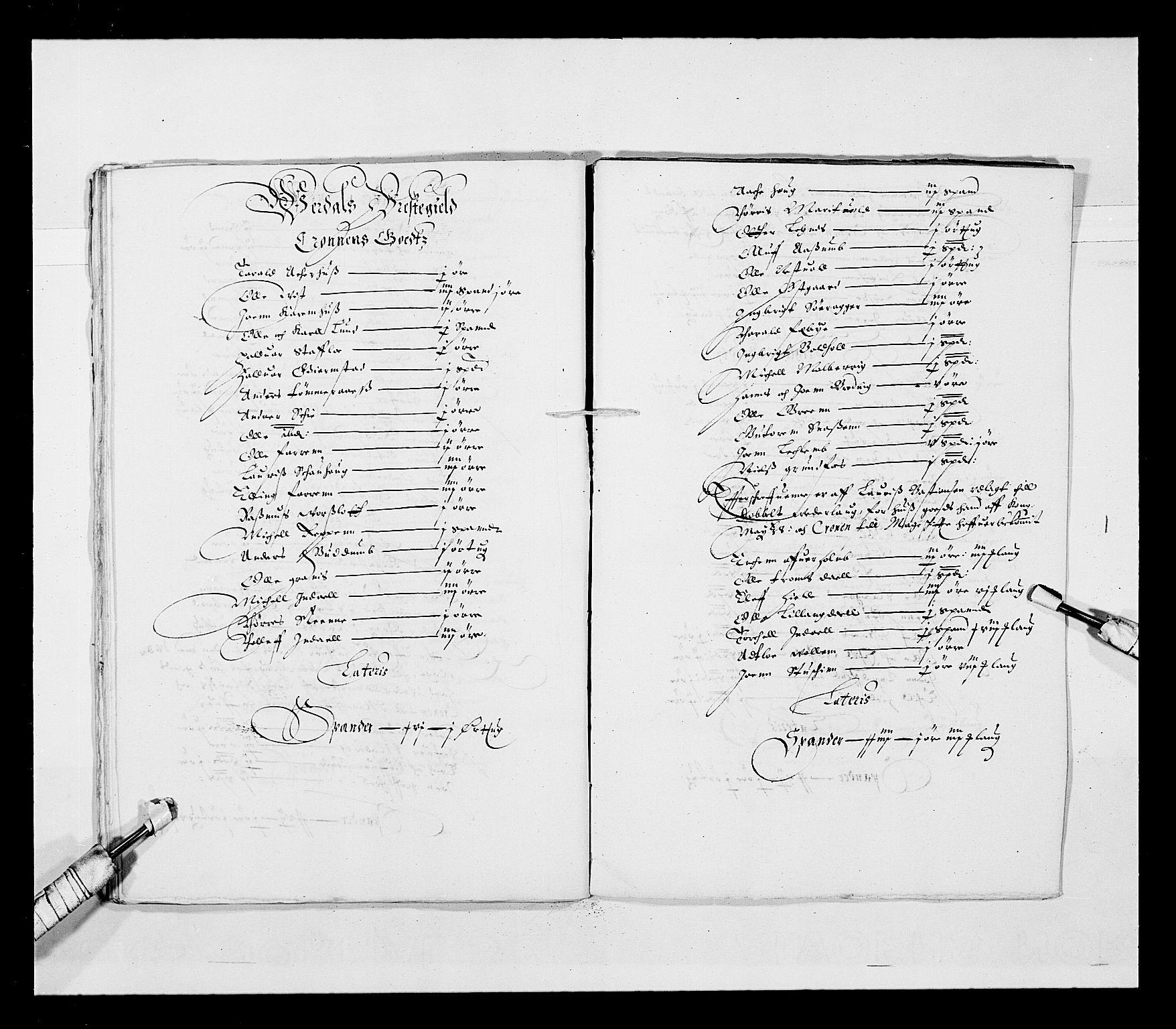 RA, Stattholderembetet 1572-1771, Ek/L0028: Jordebøker 1633-1658:, 1645-1646, s. 155