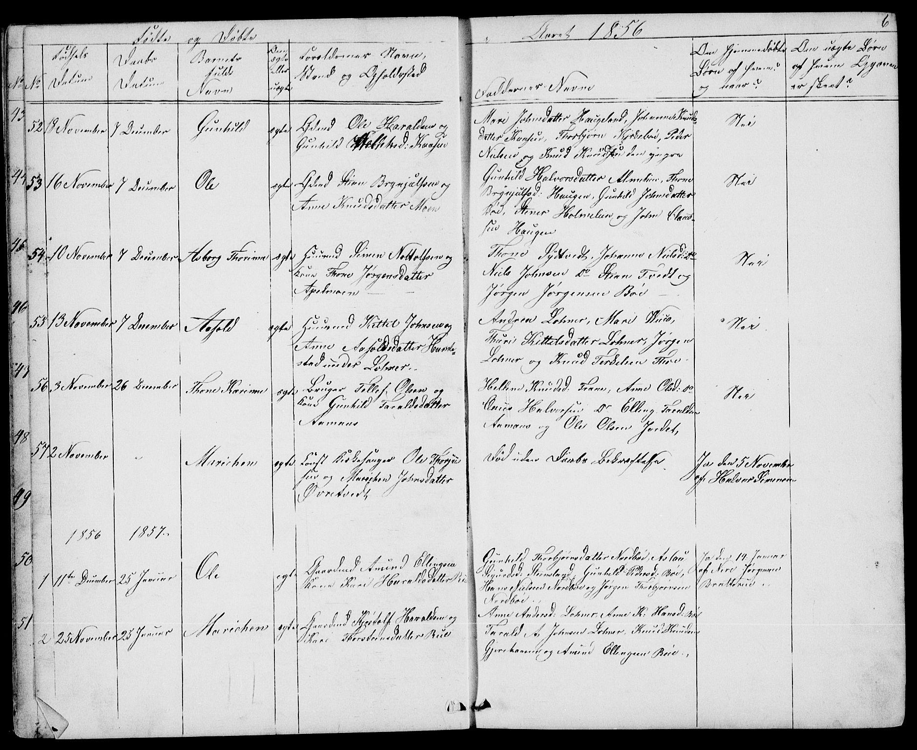 SAKO, Drangedal kirkebøker, G/Gb/L0001: Klokkerbok nr. II 1, 1856-1894, s. 6