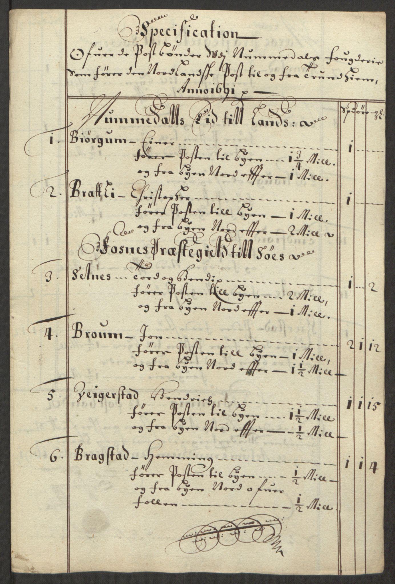 RA, Rentekammeret inntil 1814, Reviderte regnskaper, Fogderegnskap, R64/L4423: Fogderegnskap Namdal, 1690-1691, s. 352