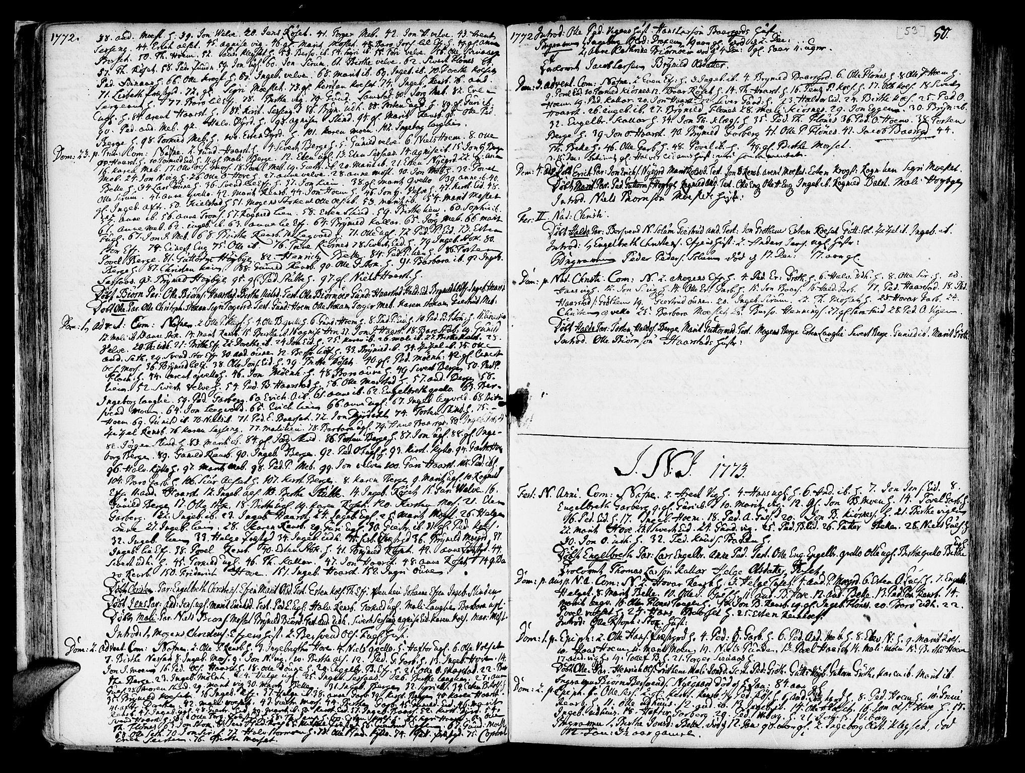 SAT, Ministerialprotokoller, klokkerbøker og fødselsregistre - Sør-Trøndelag, 695/L1138: Ministerialbok nr. 695A02 /1, 1757-1801, s. 53