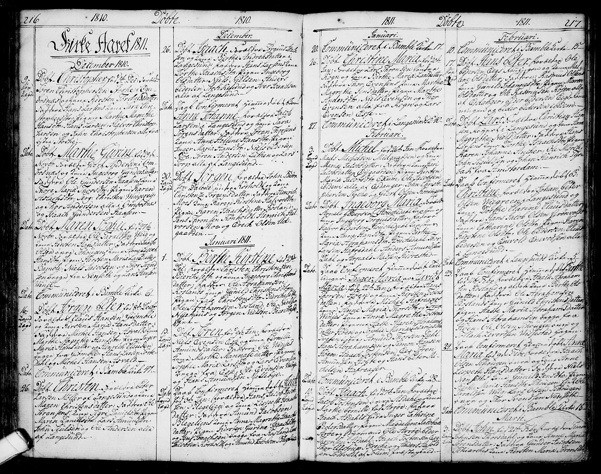 SAKO, Bamble kirkebøker, F/Fa/L0002: Ministerialbok nr. I 2, 1775-1814, s. 216-217
