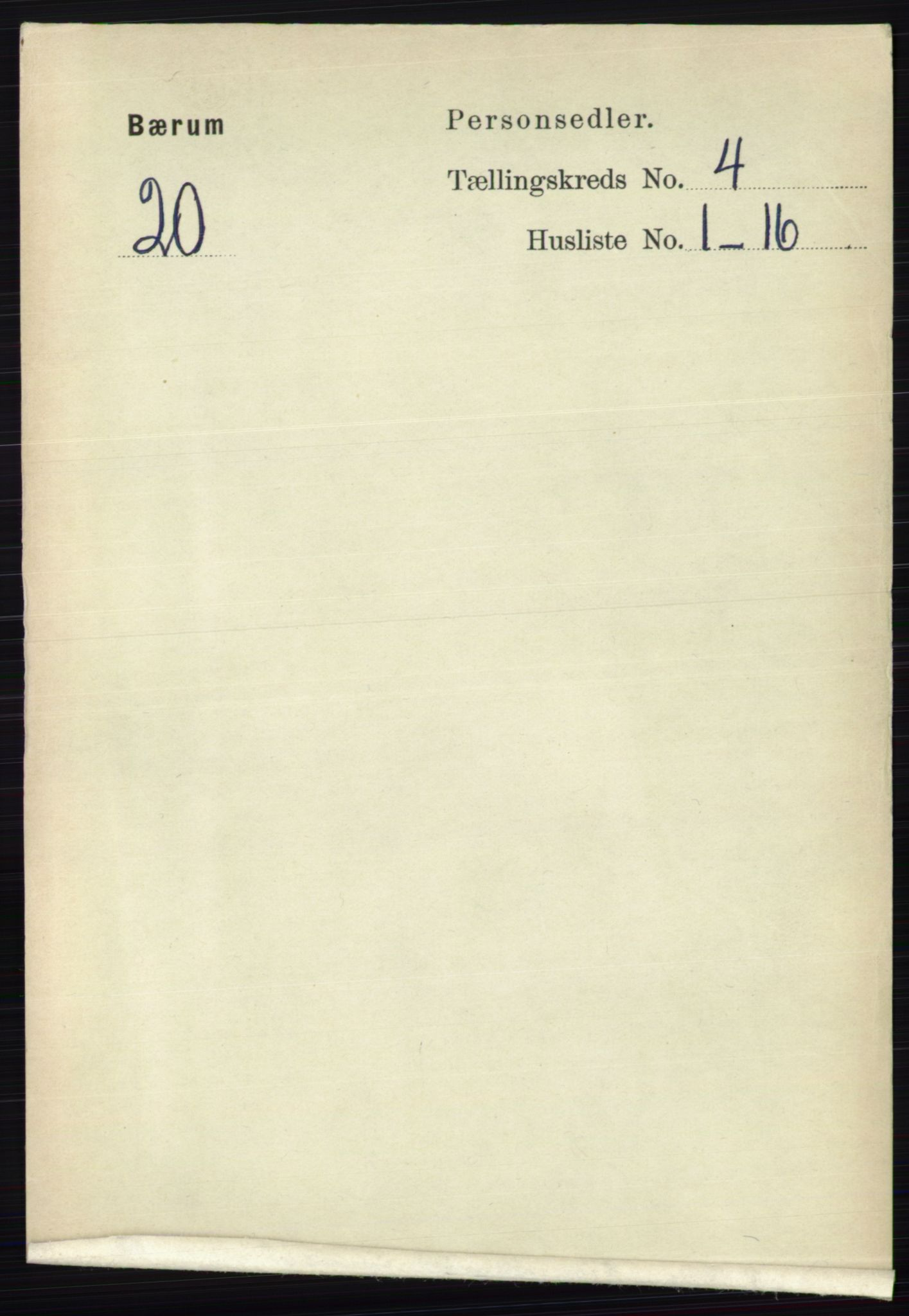 RA, Folketelling 1891 for 0219 Bærum herred, 1891, s. 2485