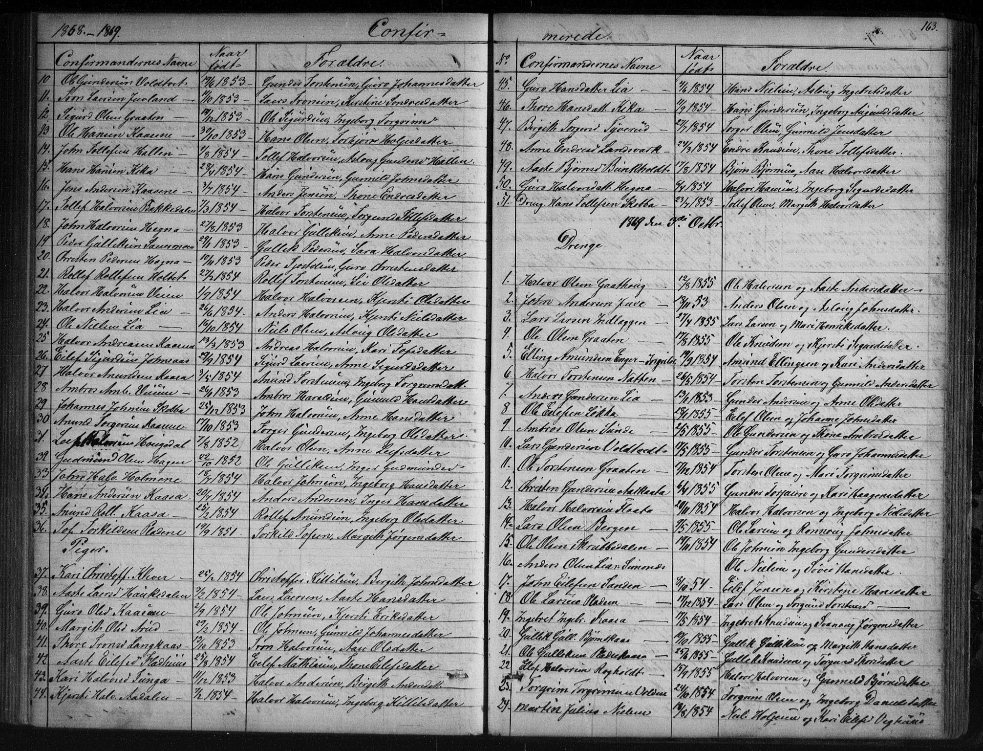 SAKO, Sauherad kirkebøker, G/Ga/L0003: Klokkerbok nr. I 3, 1866-1905, s. 163