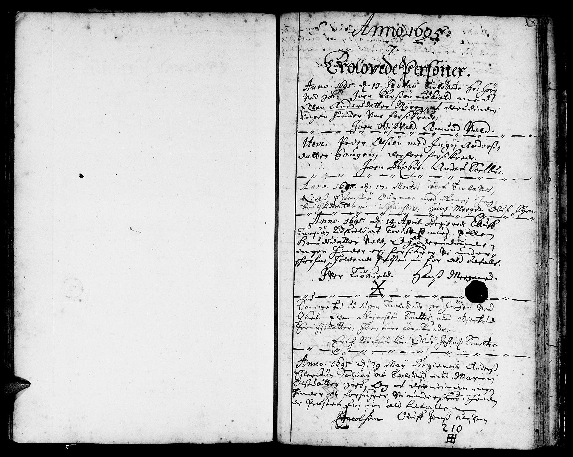 SAT, Ministerialprotokoller, klokkerbøker og fødselsregistre - Sør-Trøndelag, 668/L0801: Ministerialbok nr. 668A01, 1695-1716, s. 314-315