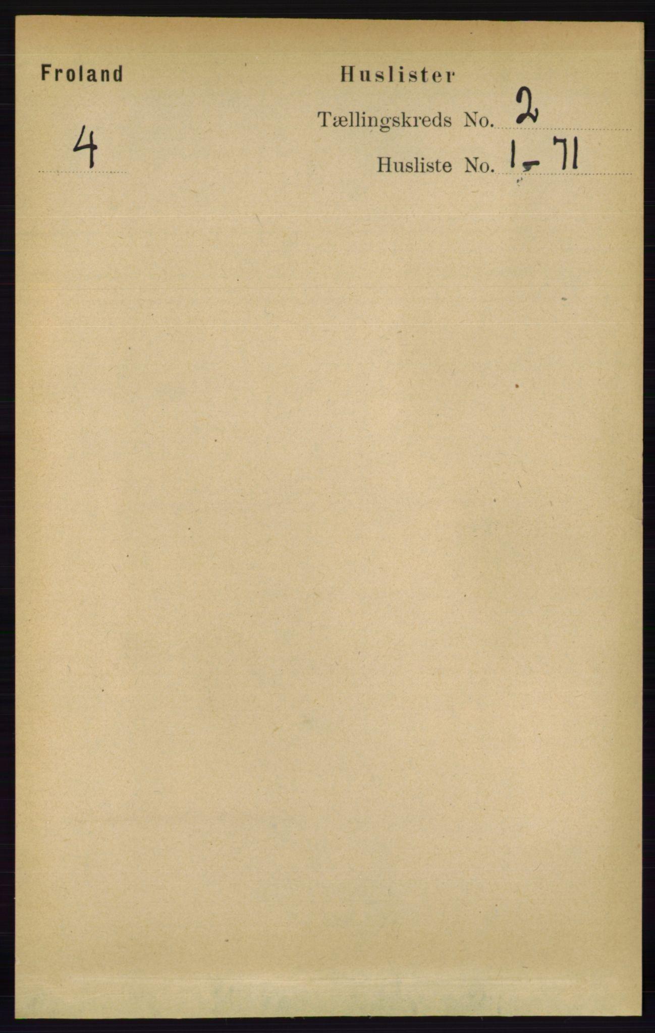 RA, Folketelling 1891 for 0919 Froland herred, 1891, s. 403