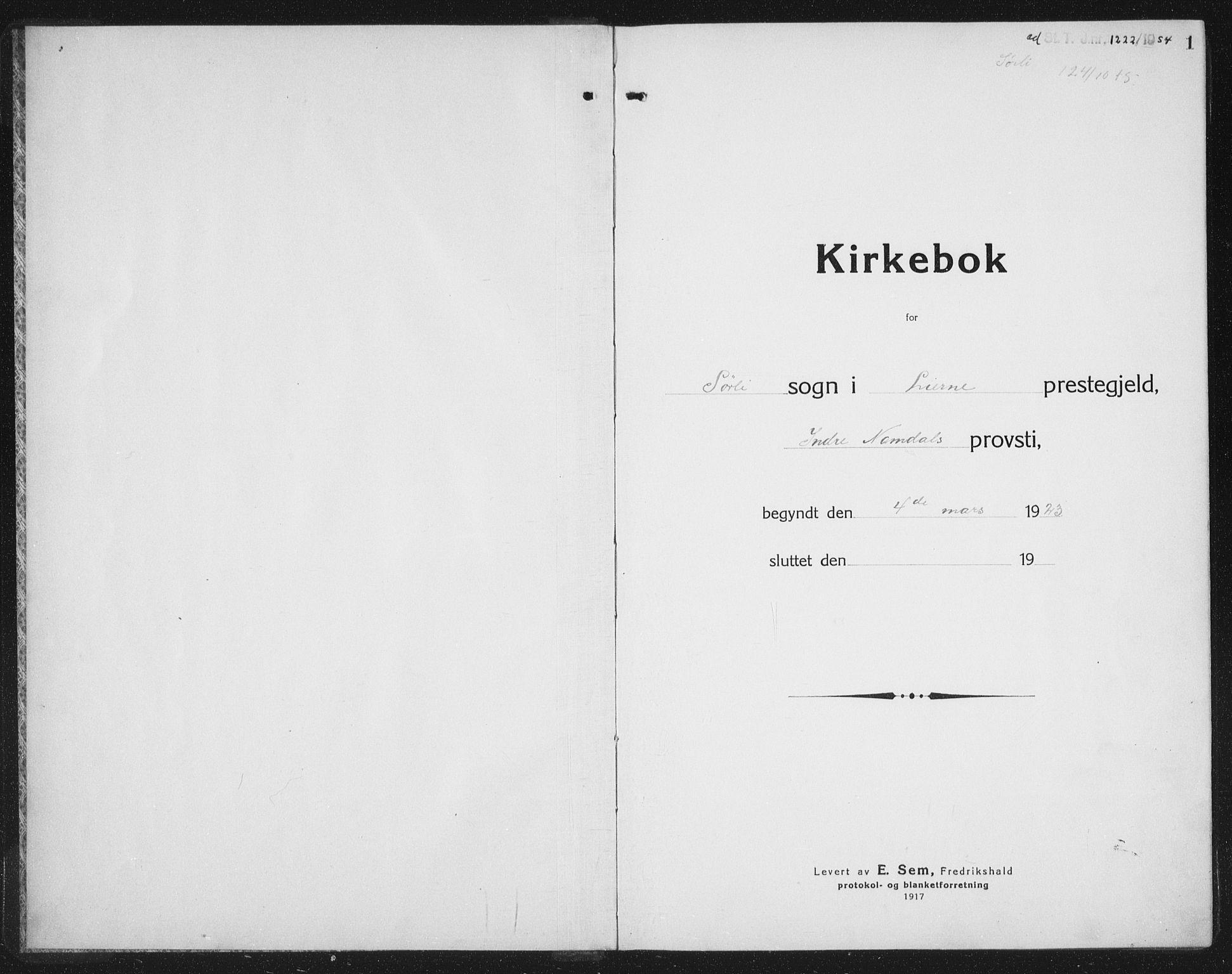 SAT, Ministerialprotokoller, klokkerbøker og fødselsregistre - Nord-Trøndelag, 757/L0507: Klokkerbok nr. 757C02, 1923-1939, s. 1