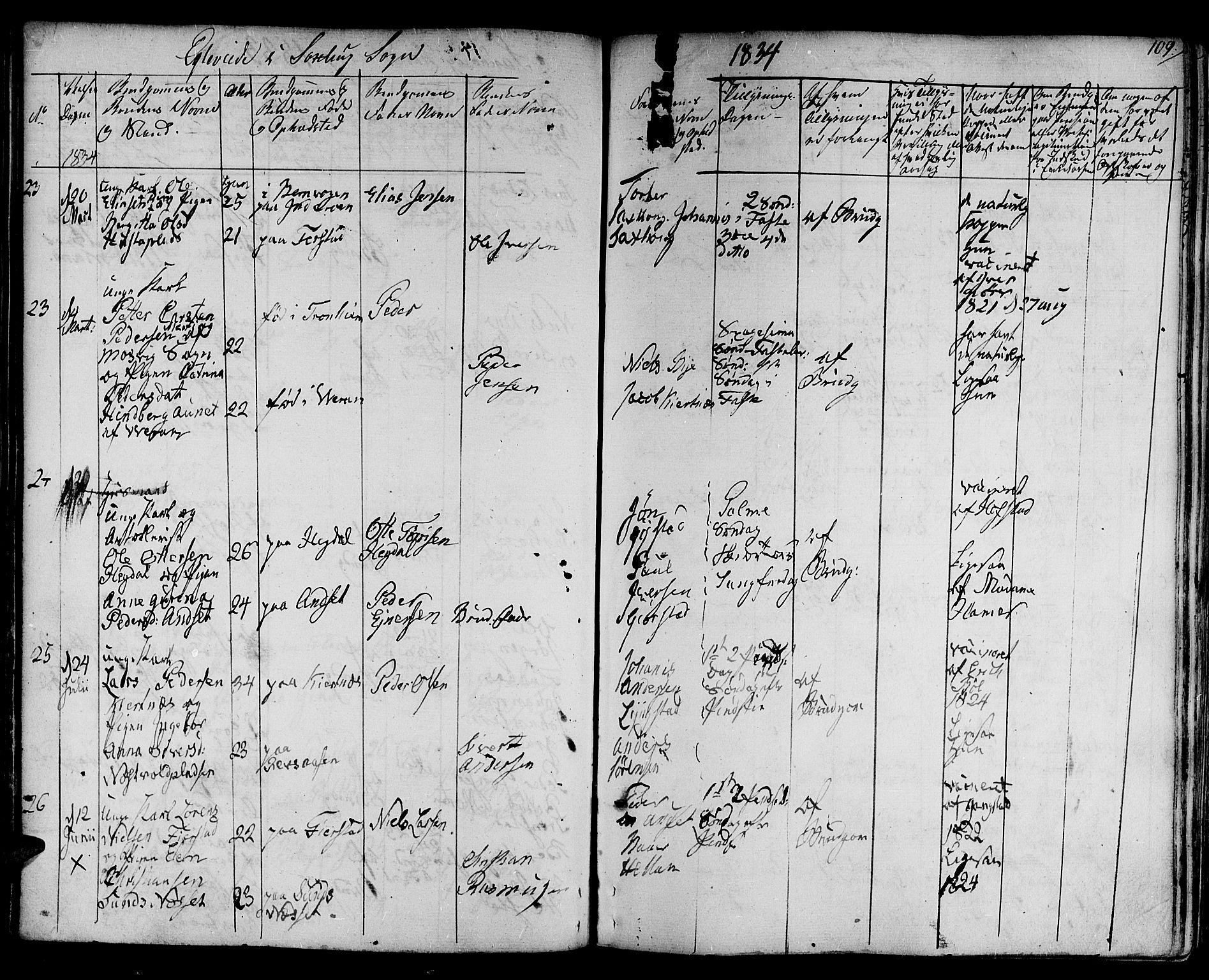 SAT, Ministerialprotokoller, klokkerbøker og fødselsregistre - Nord-Trøndelag, 730/L0277: Ministerialbok nr. 730A06 /1, 1830-1839, s. 109