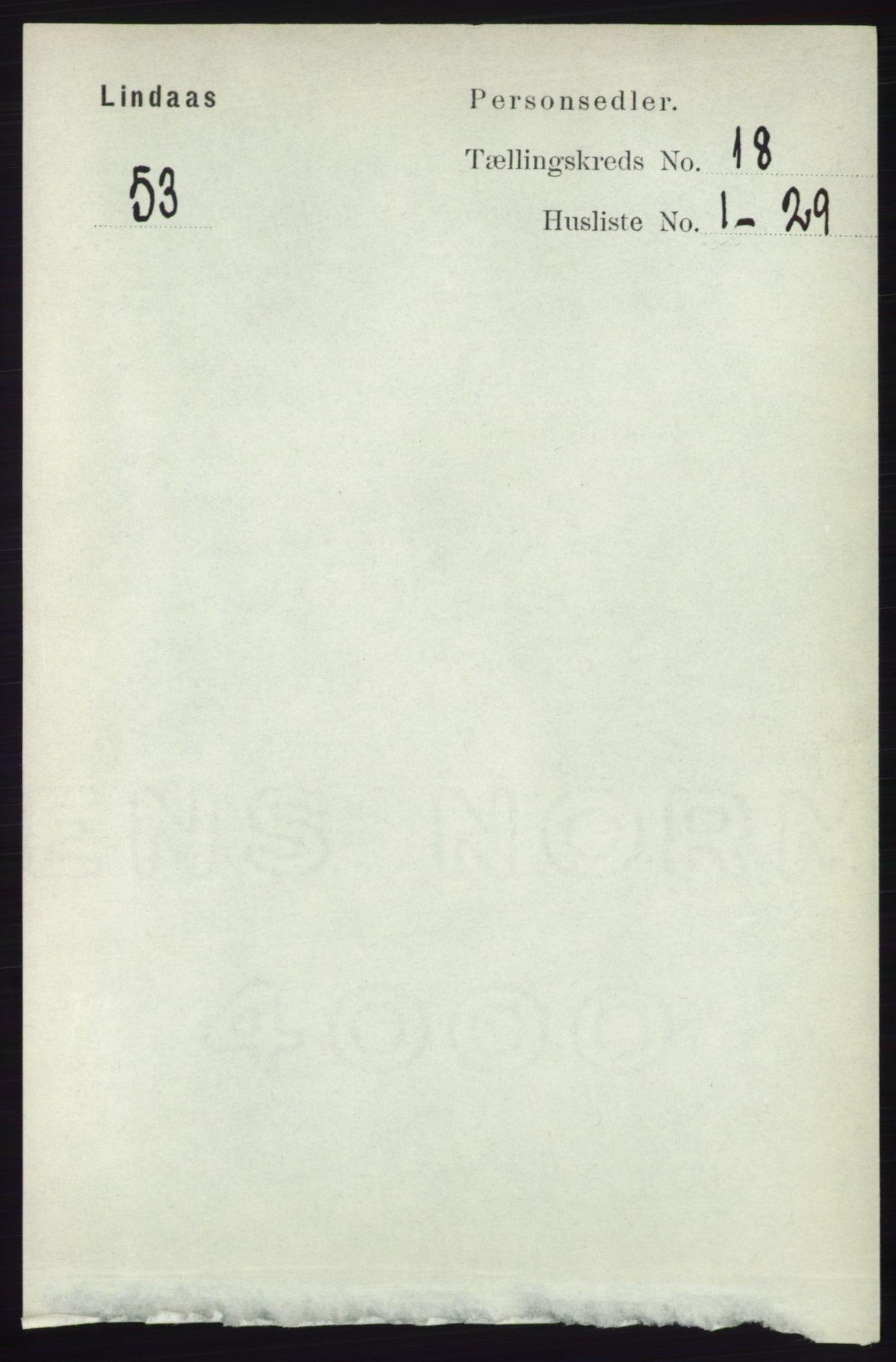 RA, Folketelling 1891 for 1263 Lindås herred, 1891, s. 6523